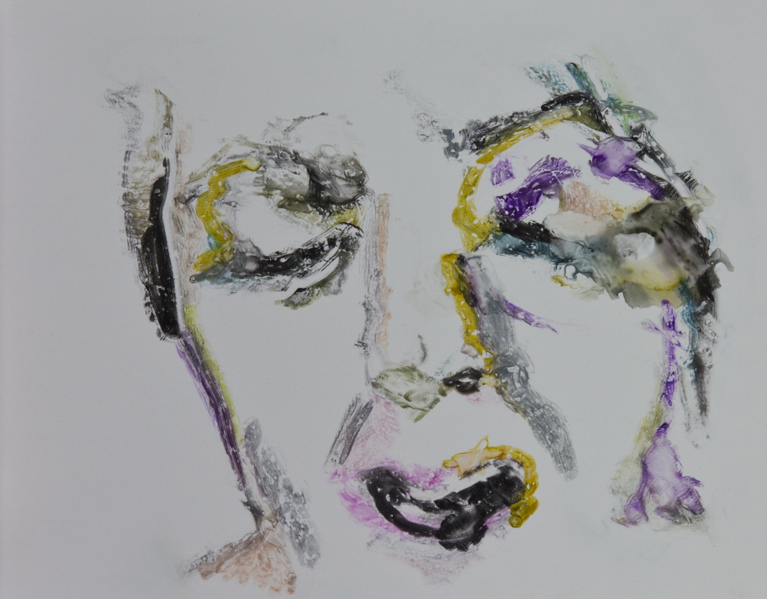 Acts 20, 2010, watercolor monotype on polypropylene, 11x14 inches