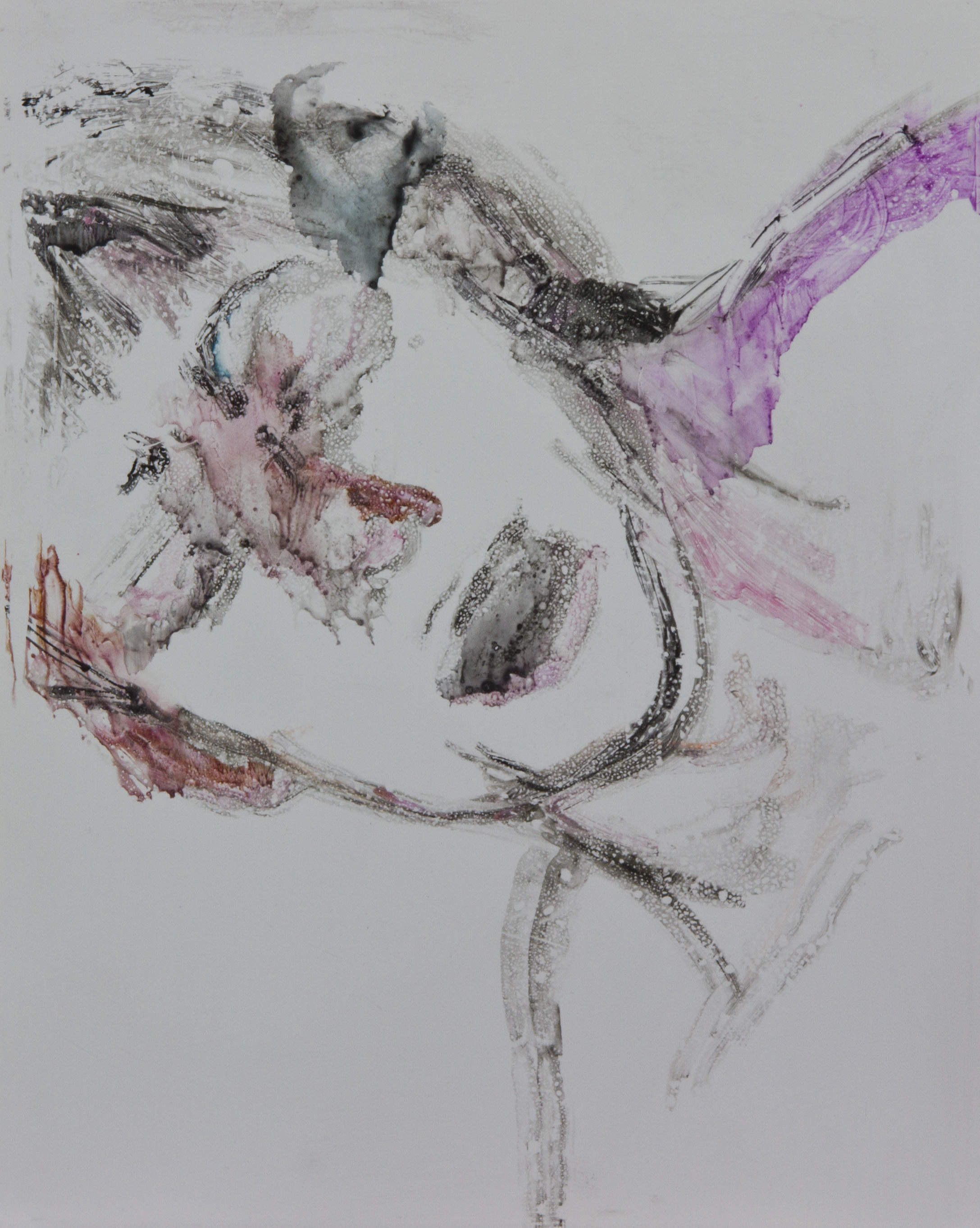 Acts 35, 2010, watercolor monotype on polypropylene, 11x14 inches