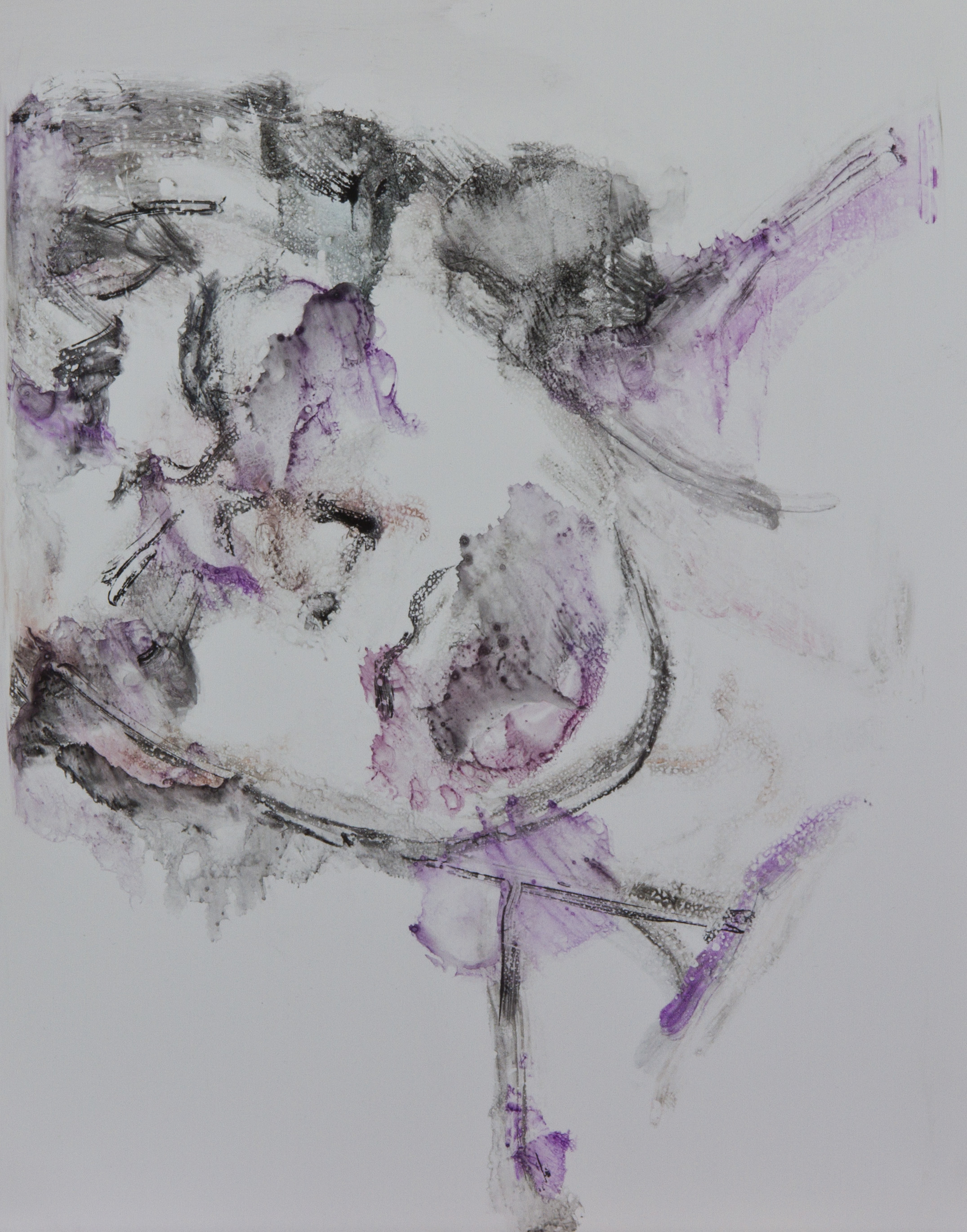 Acts 36, 2010, watercolor monotype on polypropylene, 11x14 inches