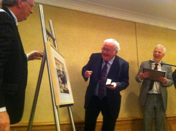 Prof. Sir Stephen O'Rahilly presented with his portrait by UCD Science