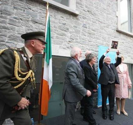 President Higgins with his Yeats in Love presented by Fleadh Committee