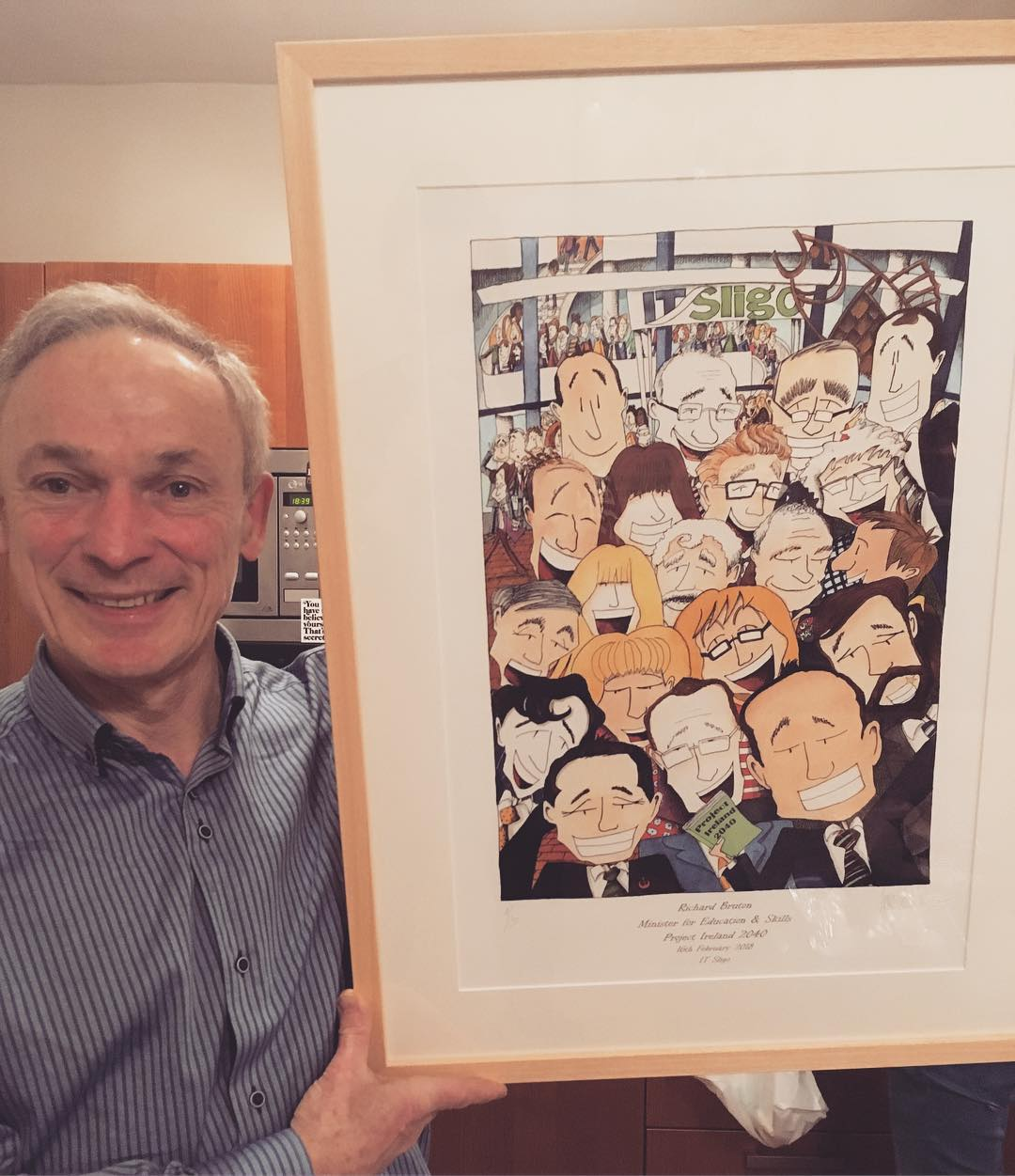 Minister Richard Bruton with his print