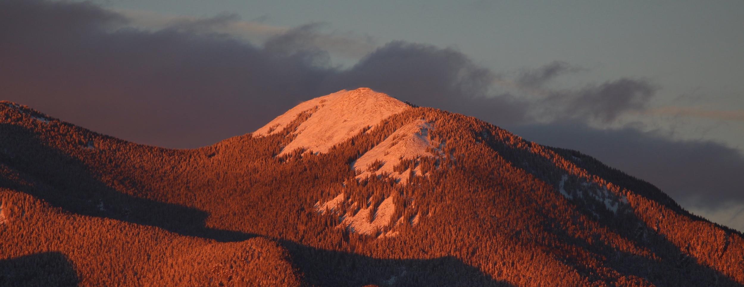 Pueblo Peak of the Sangre De Cristos above Taos, NM