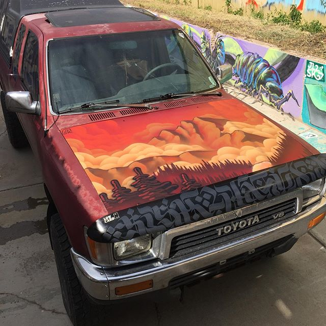 Finally took the time to paint my hood. The patina was cool but...