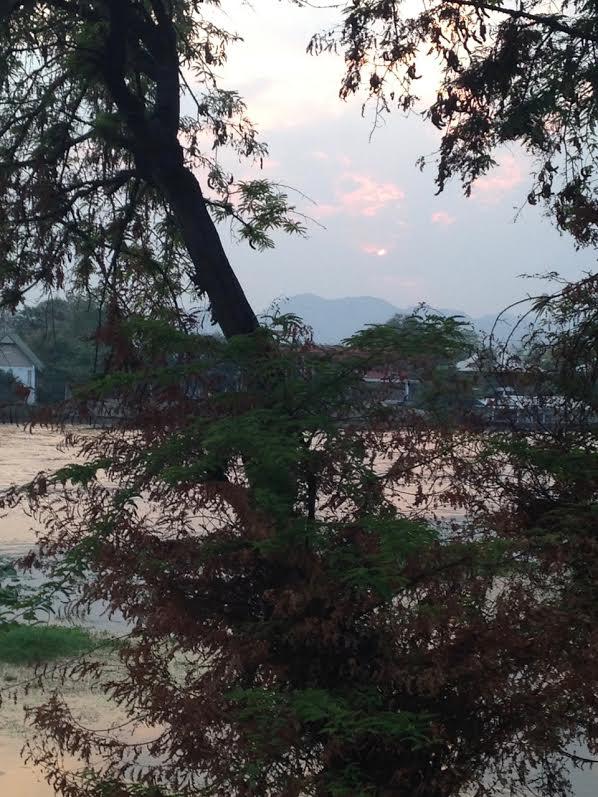 kanchanaburi, thailand. dusk.