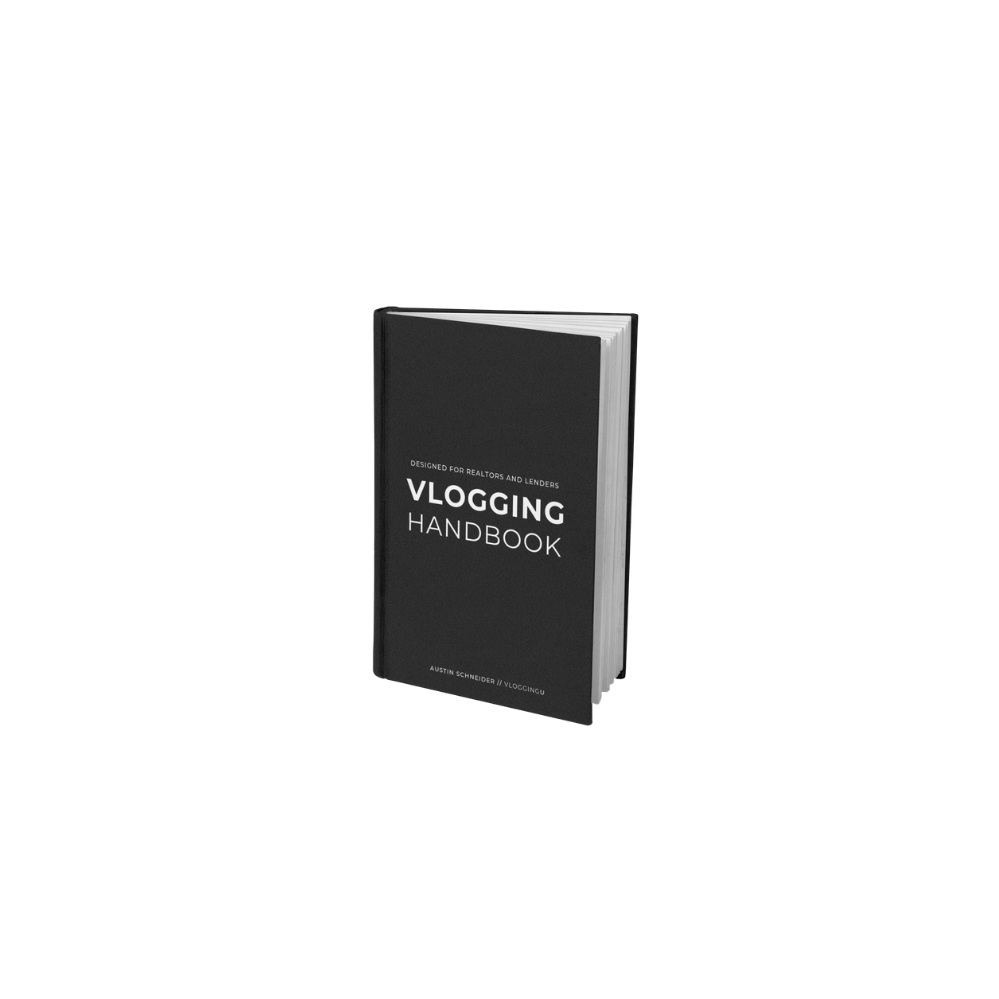 FREE DOWNLOAD - [VLOGGING HANDBOOK] 8 Chapters of step by step content to get you going in vlogging if you're in Real Estate.