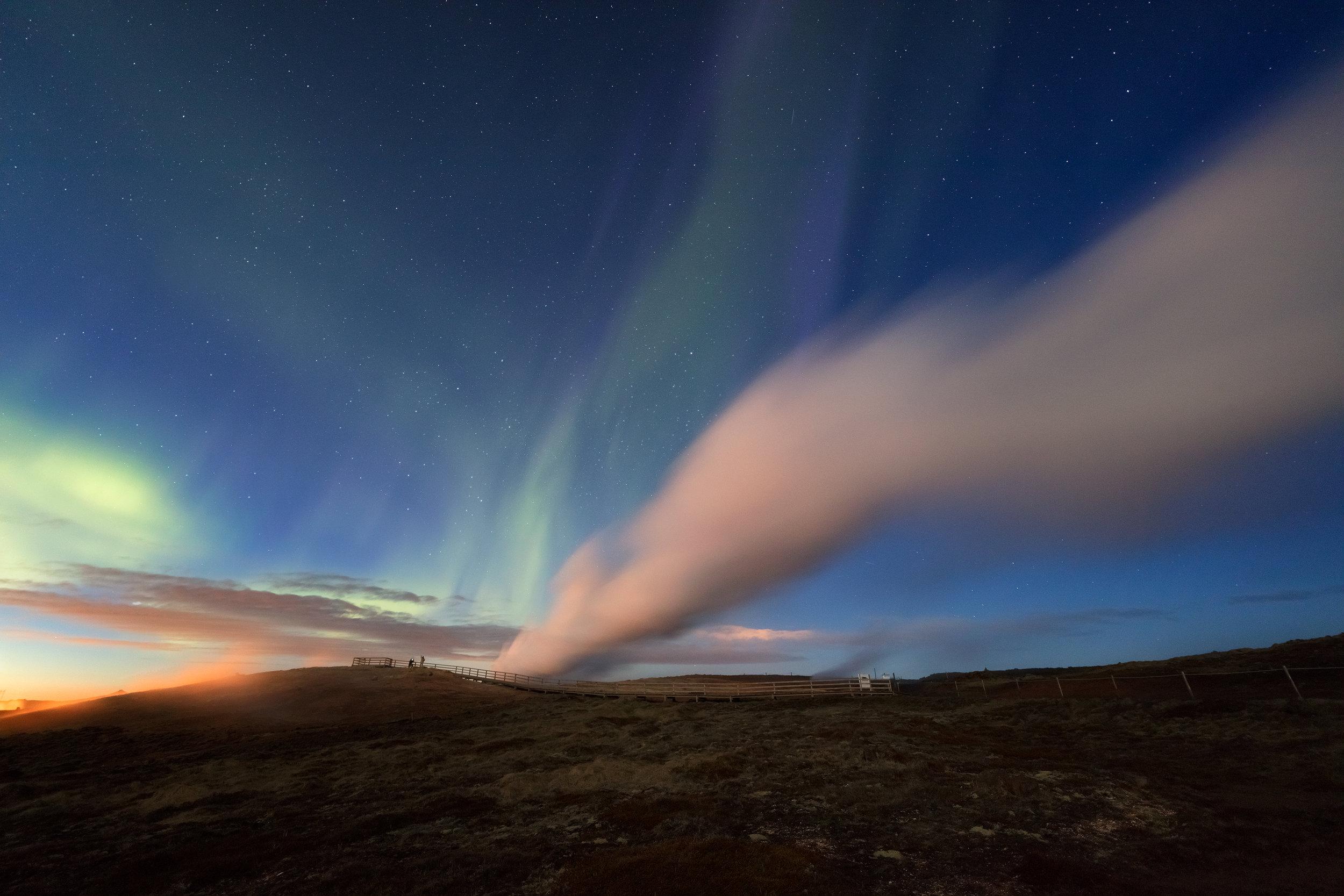 Geothermal Iceland - Gunnuhver Aurora