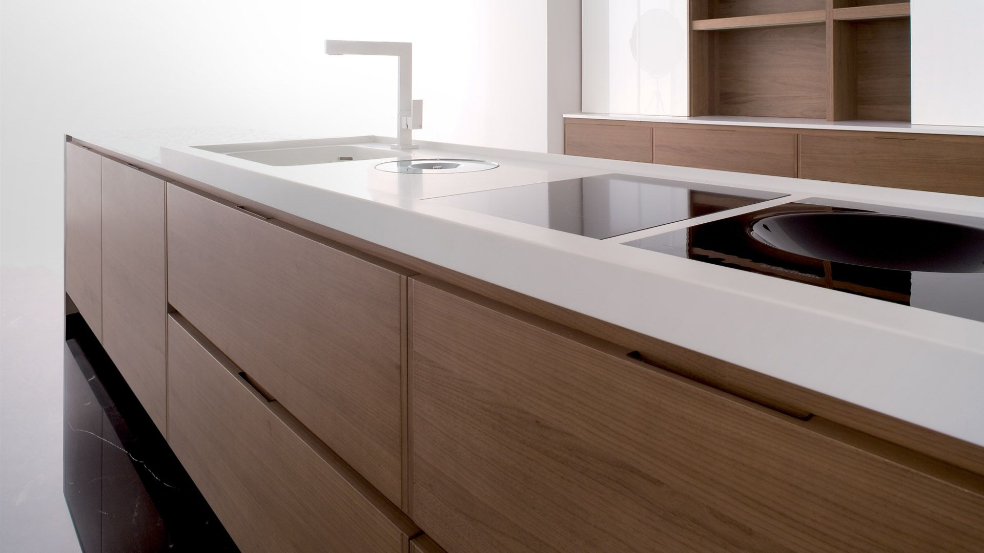 SOLID SURFACE - Solid Surface countertop sheets are non-porous solid surfaces made of natural minerals and acrylic resins. They are completely seamless, so when fabricated and installed, the countertops, backsplash, and even other colors can be easily integrated into one piece.See More >