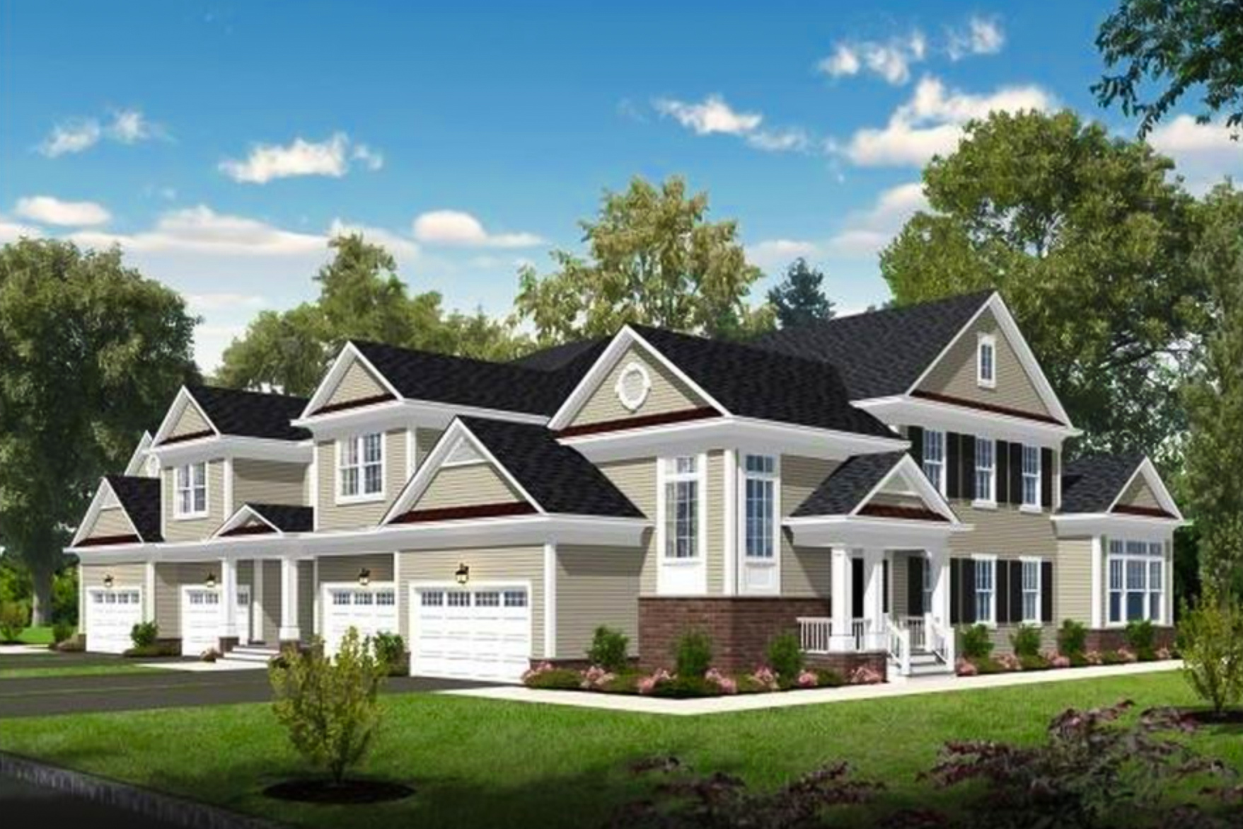 ESTATES AT CRANBURY - LOCATION: CRANBURY, NJA newly built community of 26 single-family town houses.