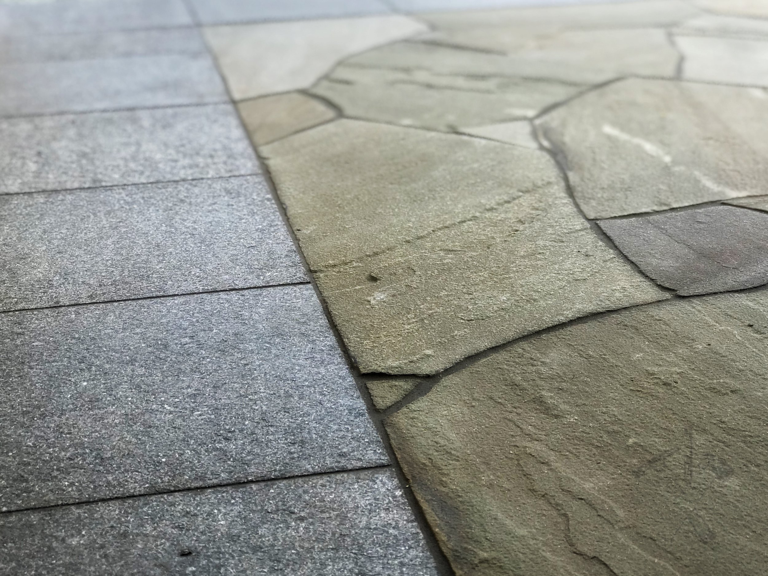 Natural Stone Flooring - The natural alternative to standard tile floors using natural shapes, textures, and modern building techniques.
