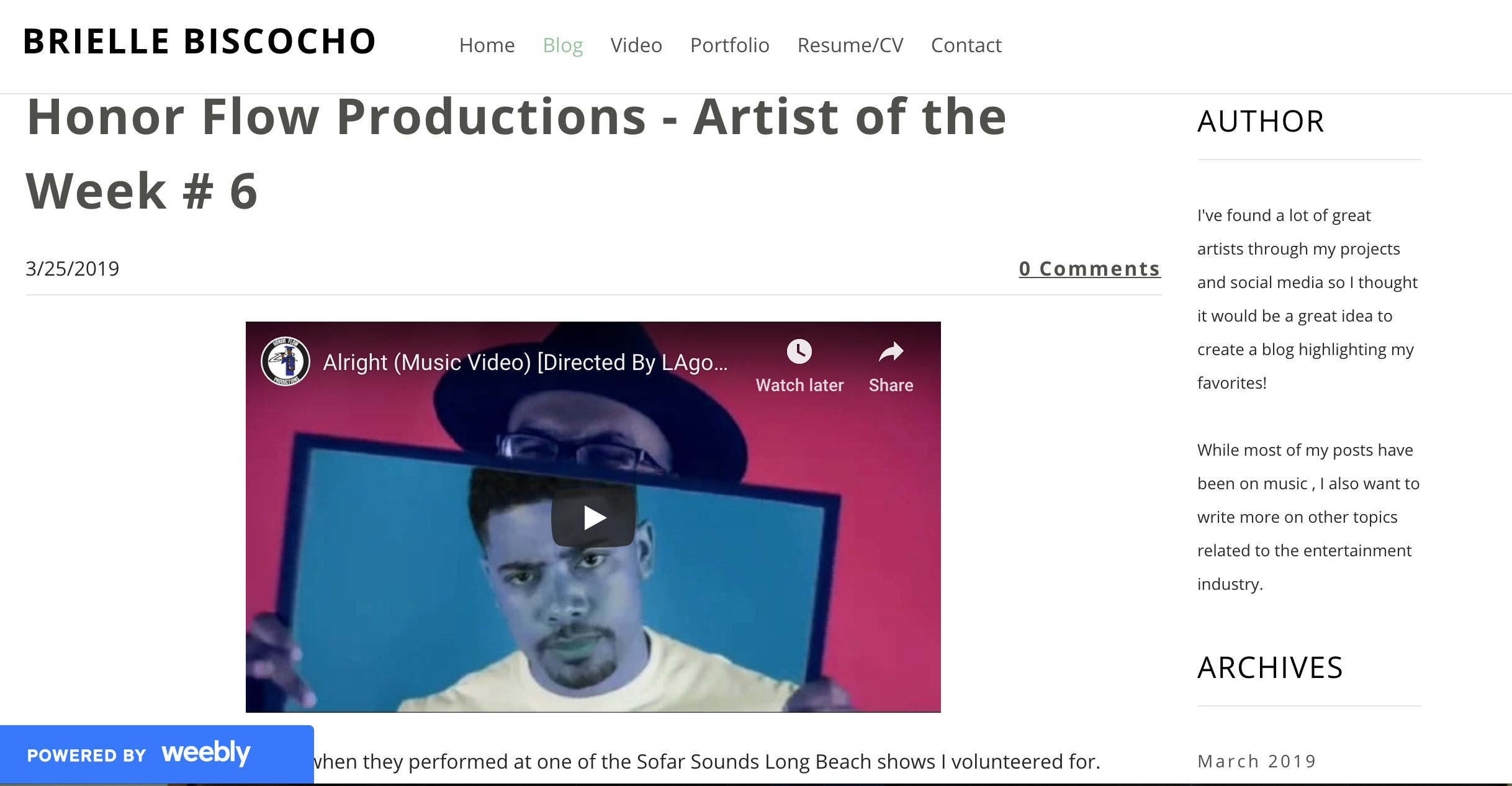 Brielle Biscocho.com Artist of The Week (#6 3.25.19).png