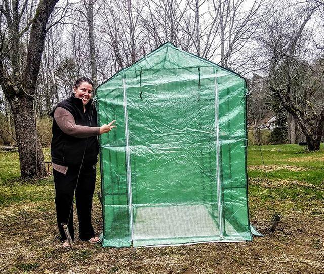 New green house... Getting things started.  #herbagebybex #greenhouse  #maineherbalist