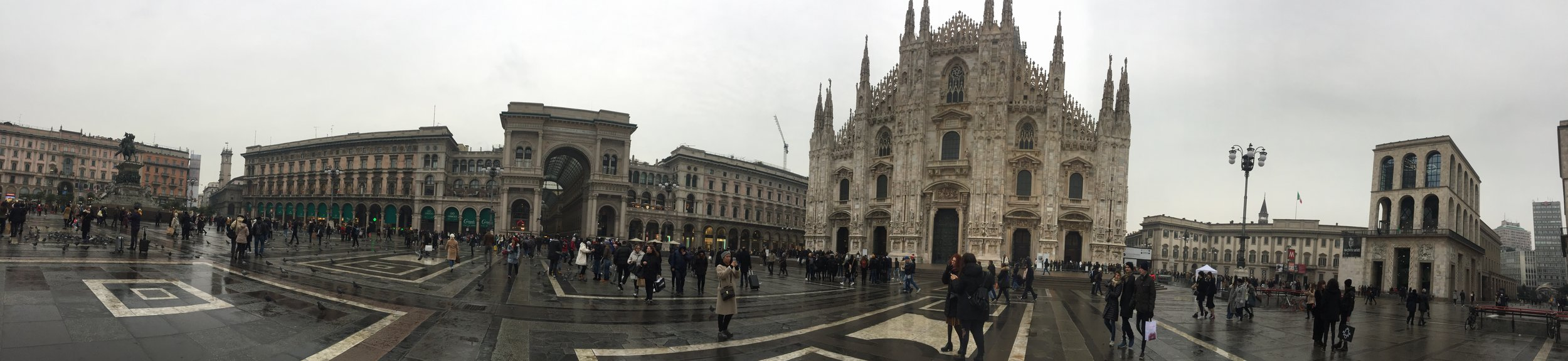 a chilly, grey day for Milan in January, but a winner of architectural beauty.
