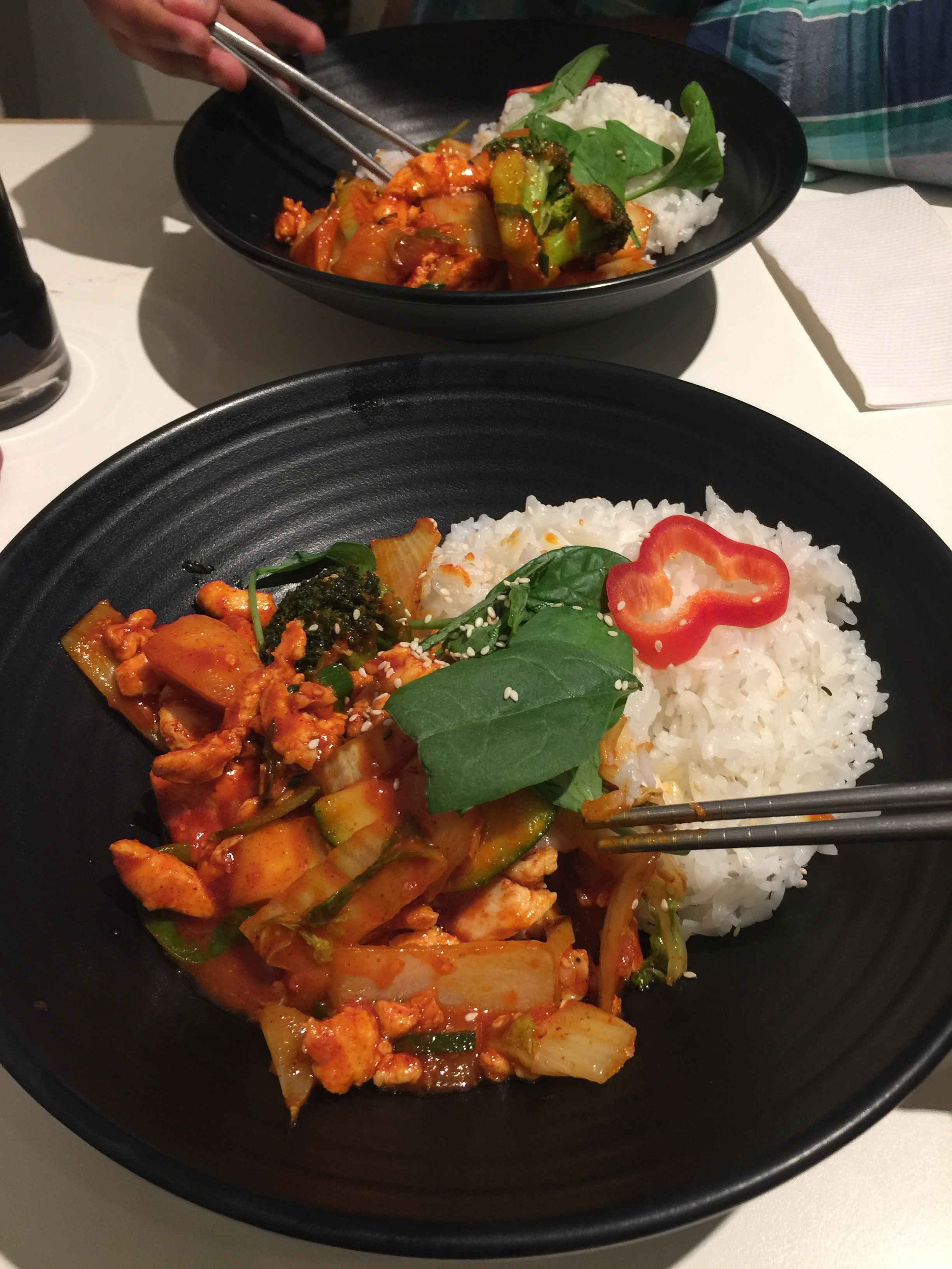YamYam Berlin for some Korean spicy food if you can handle it