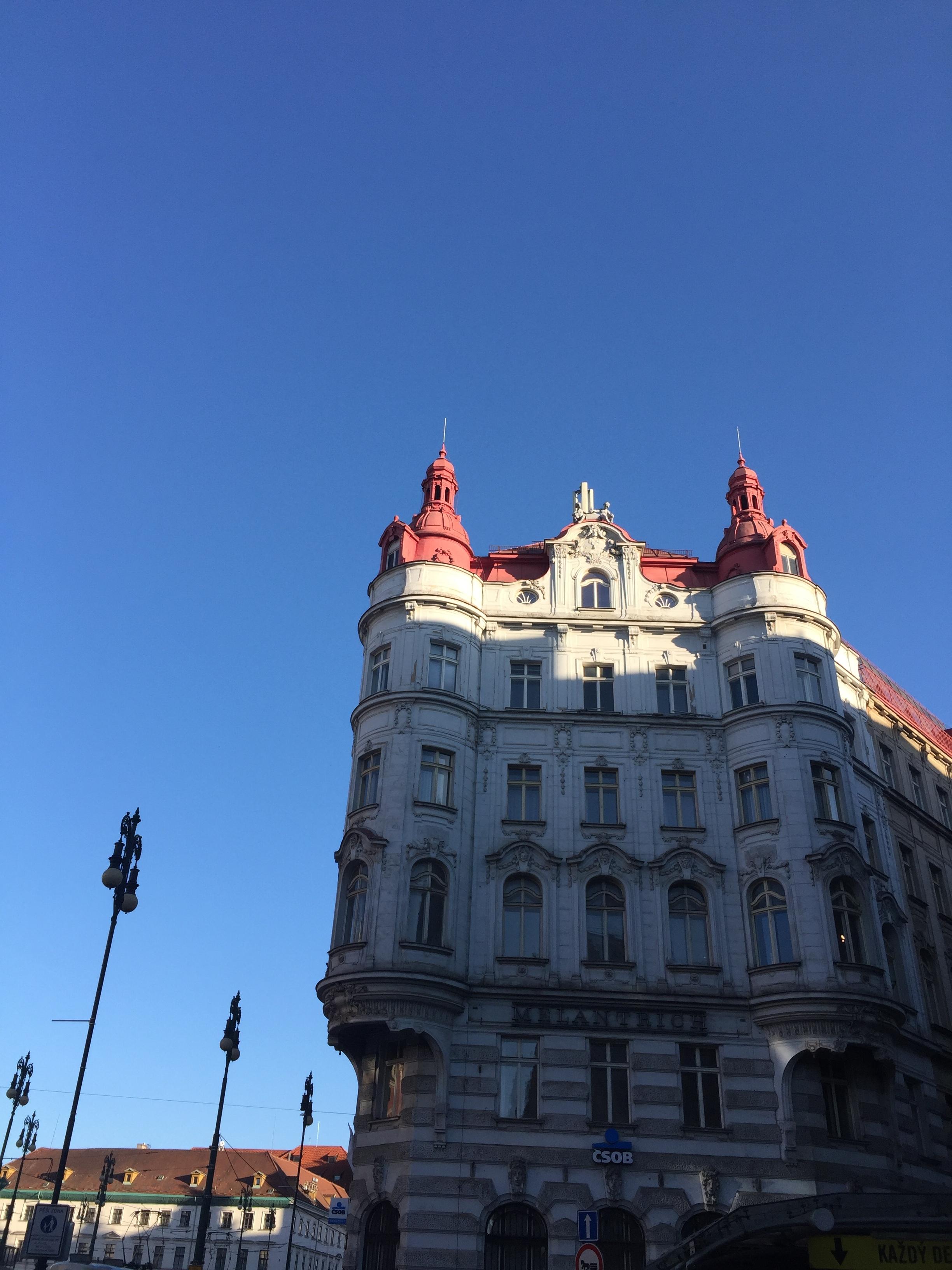 castle-like buildings Prague