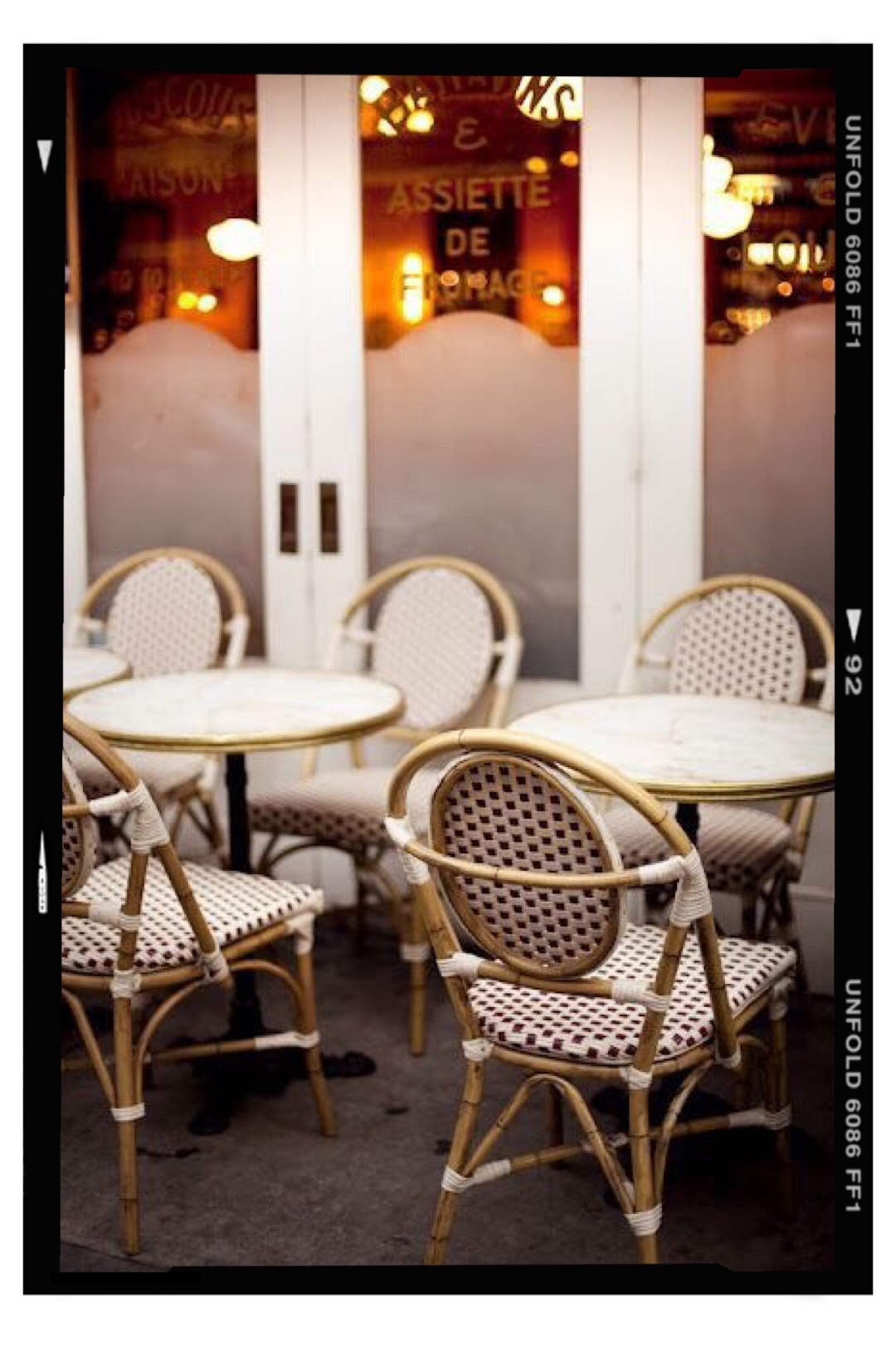 Bistro chairs are my weakness… - I gravitate towards them… their unique shapes, woven patterns and colors. They are the perfect classic chair for any kitchen nook, dining area or outdoor fête.