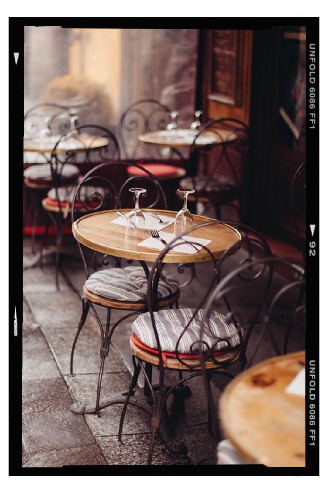 bistro french chairs and table
