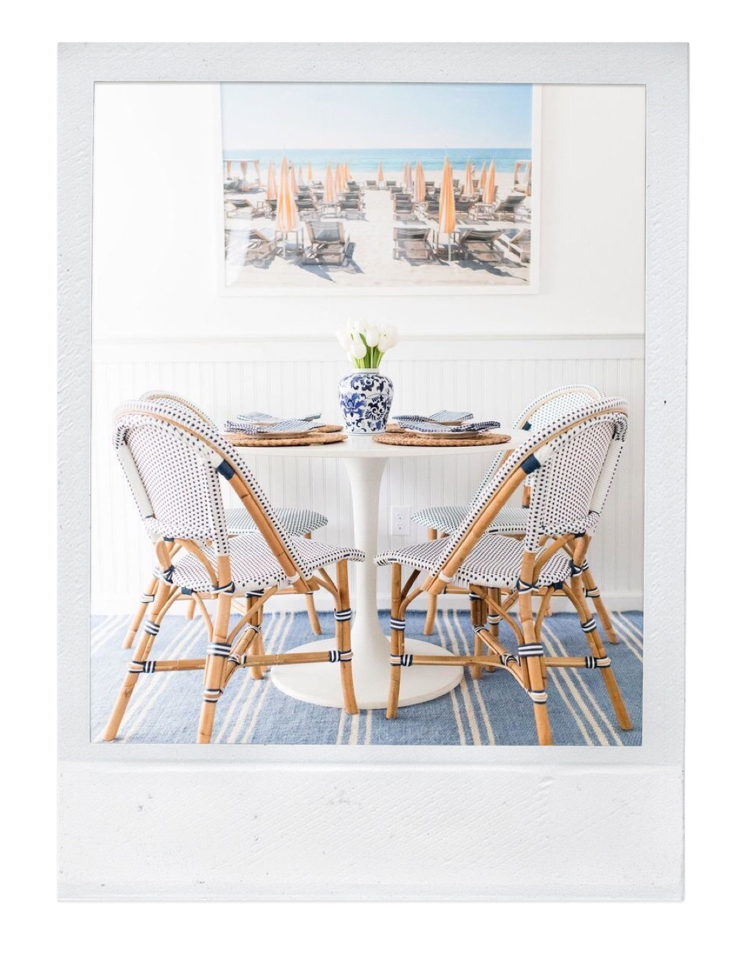 bistro chairs in dining nook