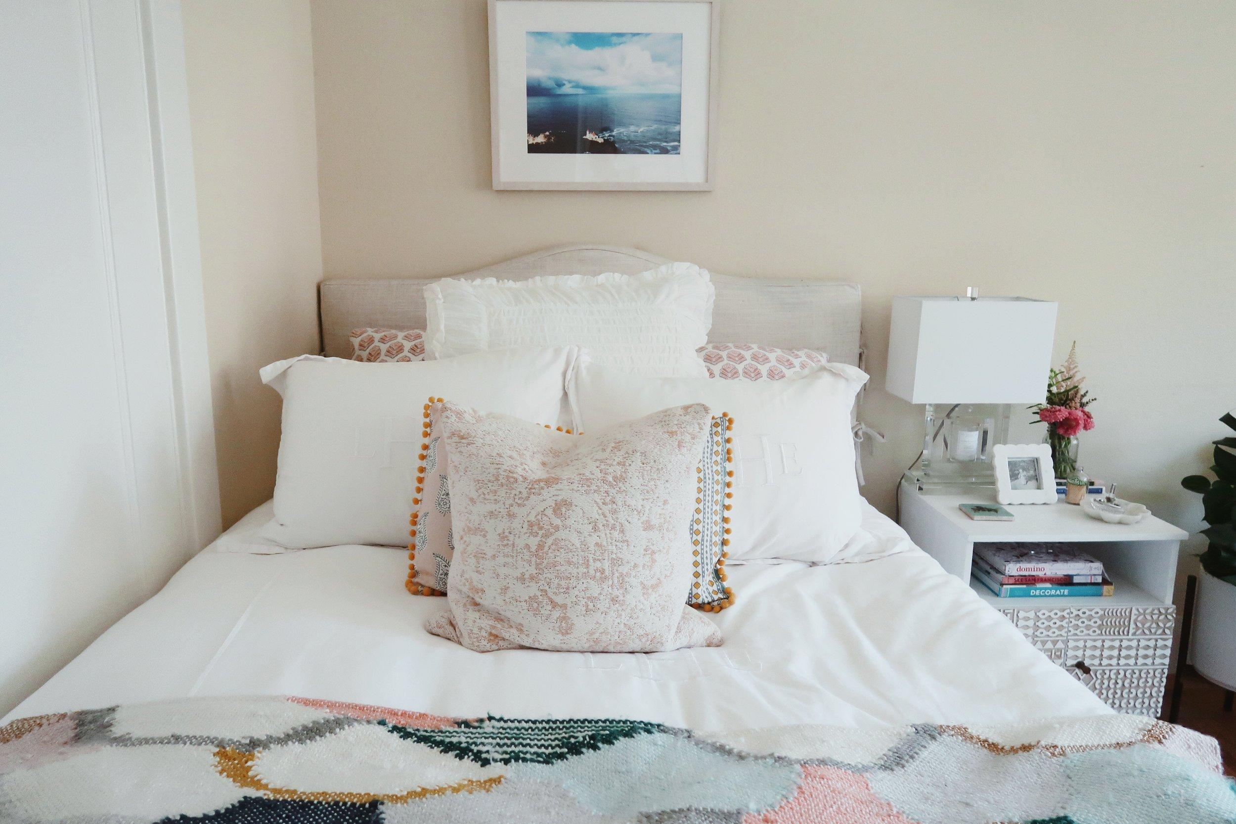 summer bedding look