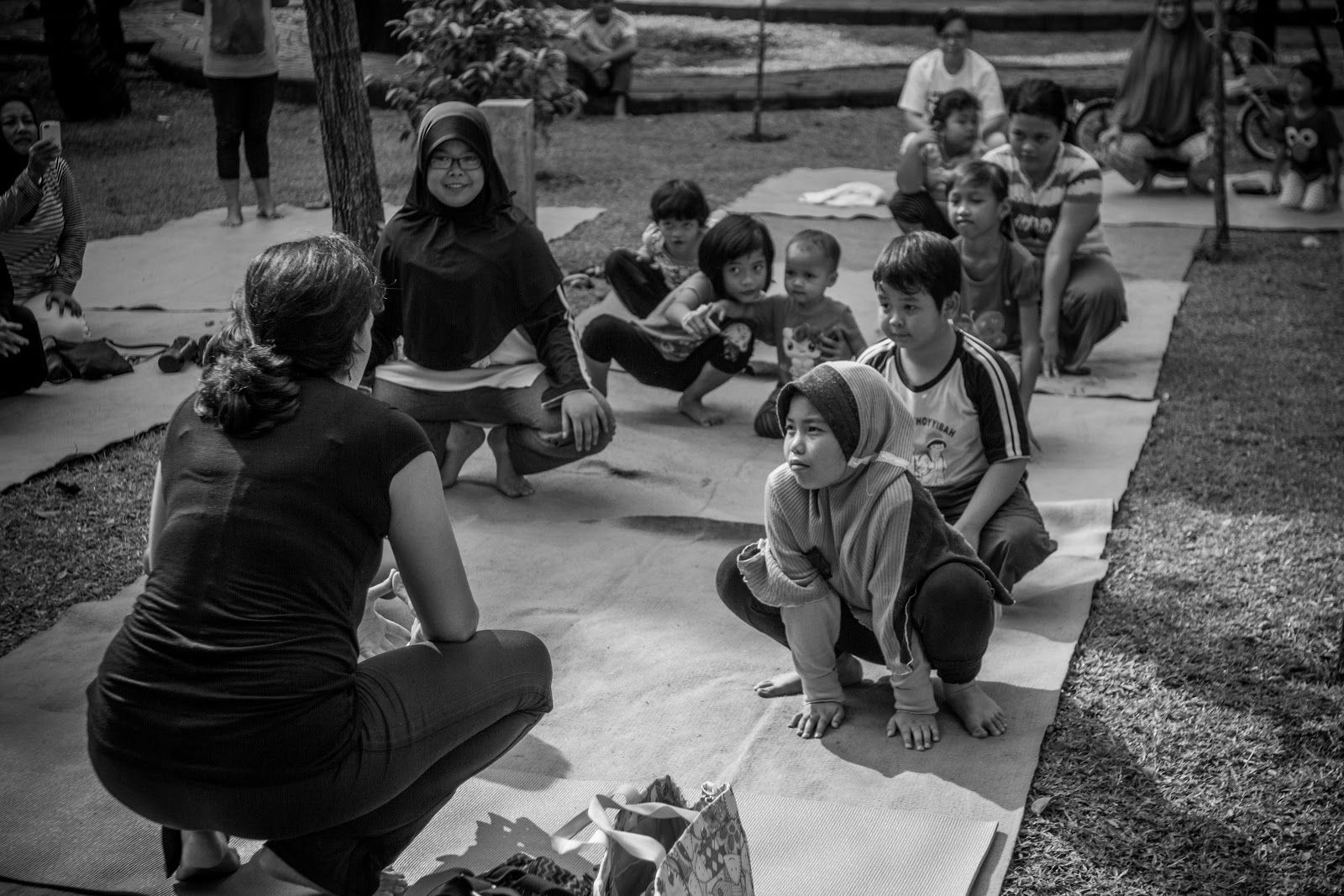 Many yoga students who wear the hijab, including children, have benefited from yoga and even became yoga teachers in Indonesia.