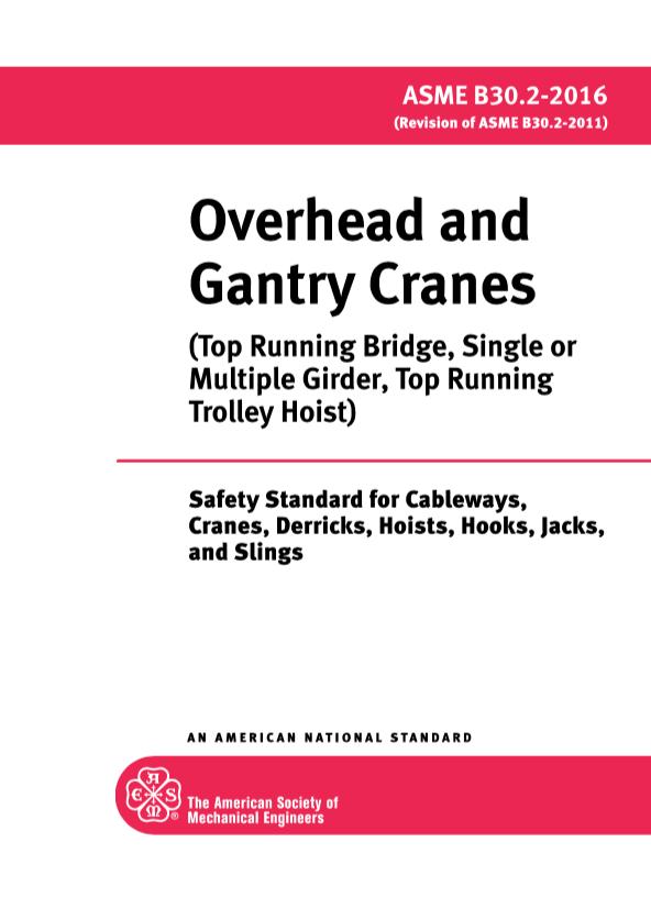 ANSI B30.2 Overhead Crane Specification