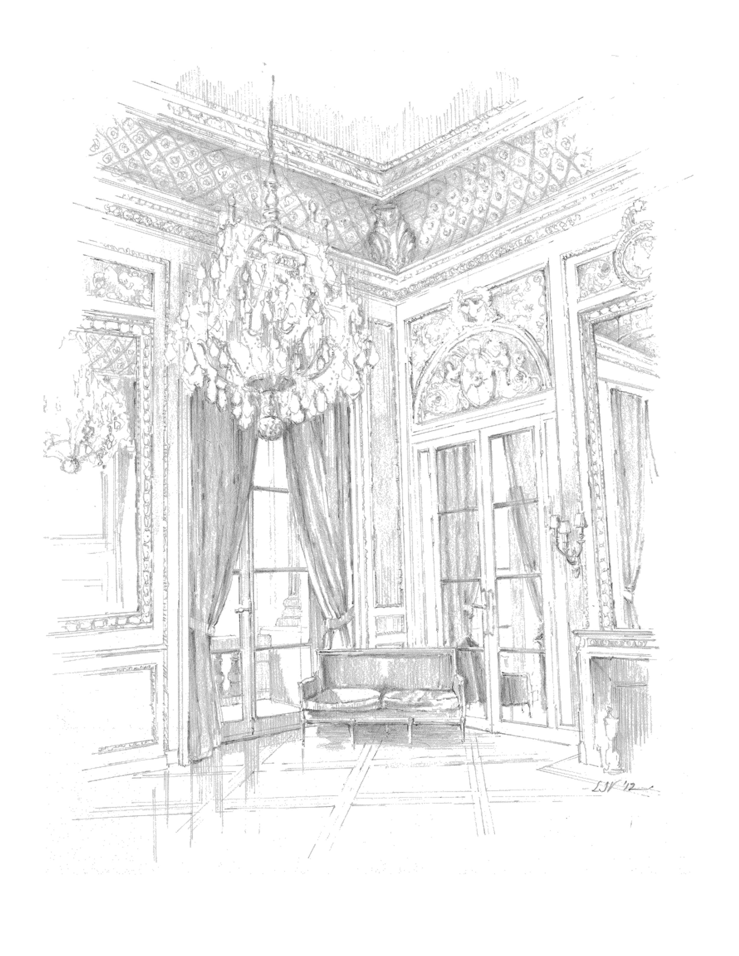 The Hôtel de Crillon, salon on the second floor