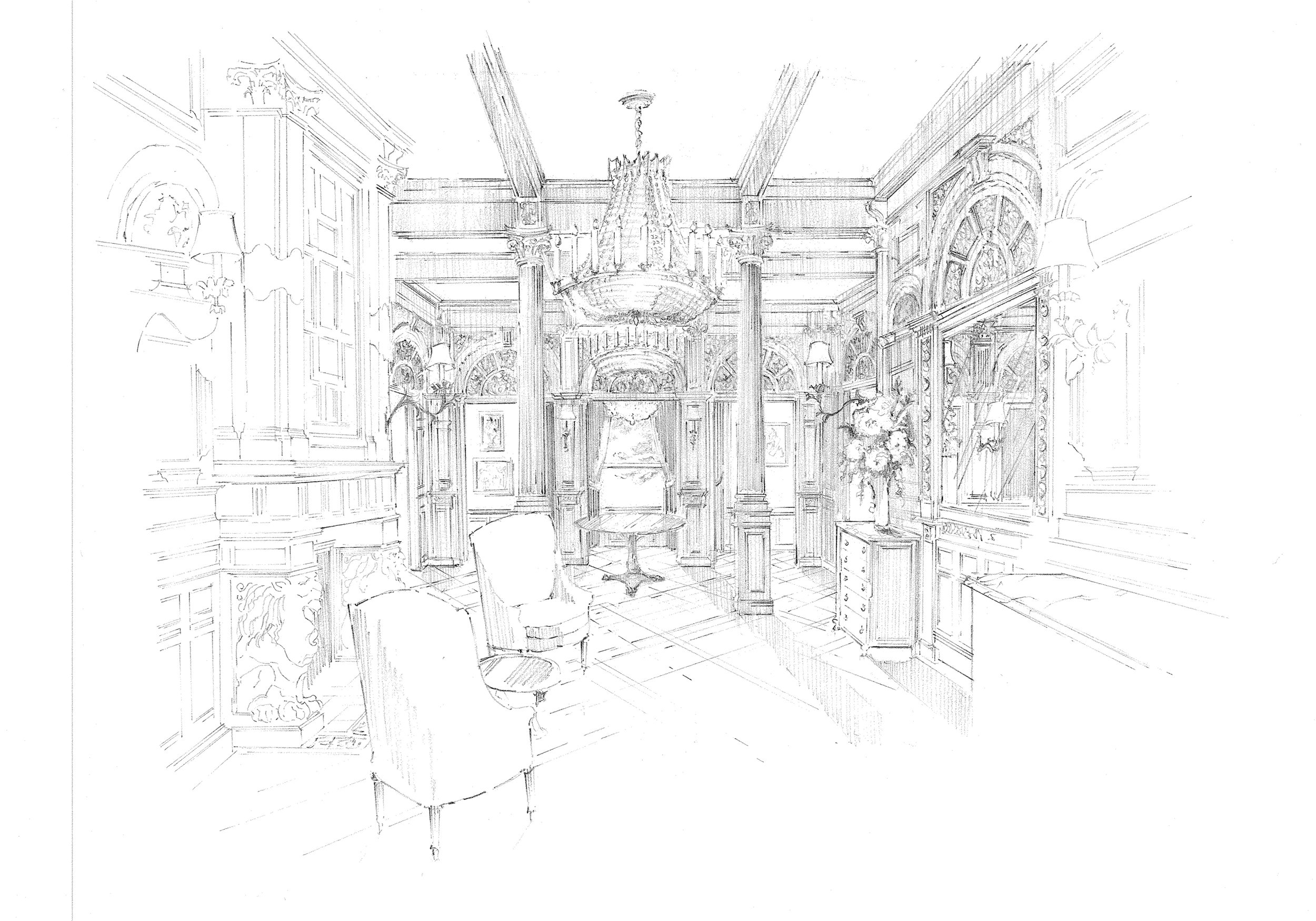 Re-imagining the grand hall of a Back Bay mansion