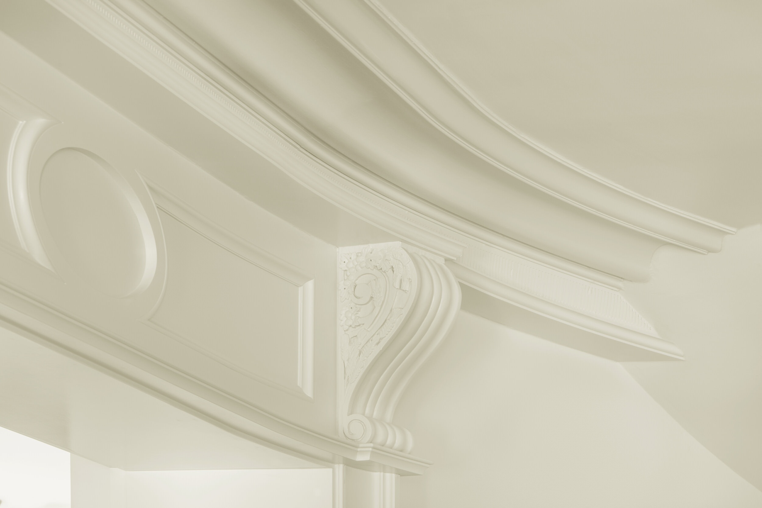 Detail of entry hall millwork