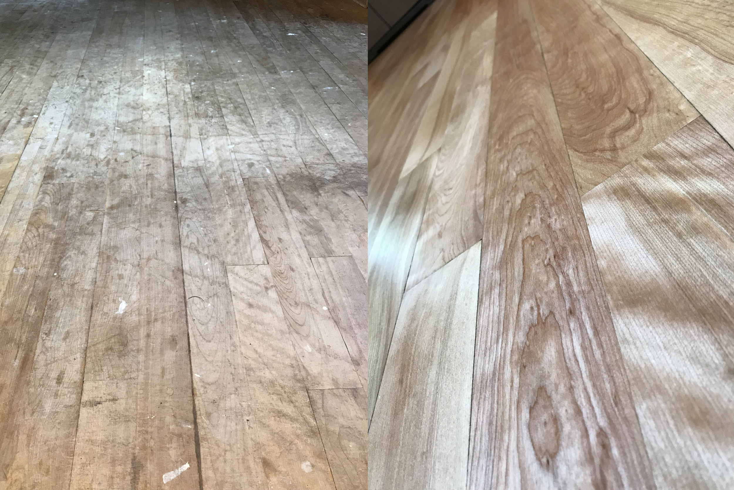 Birch Wood Floor Refinish