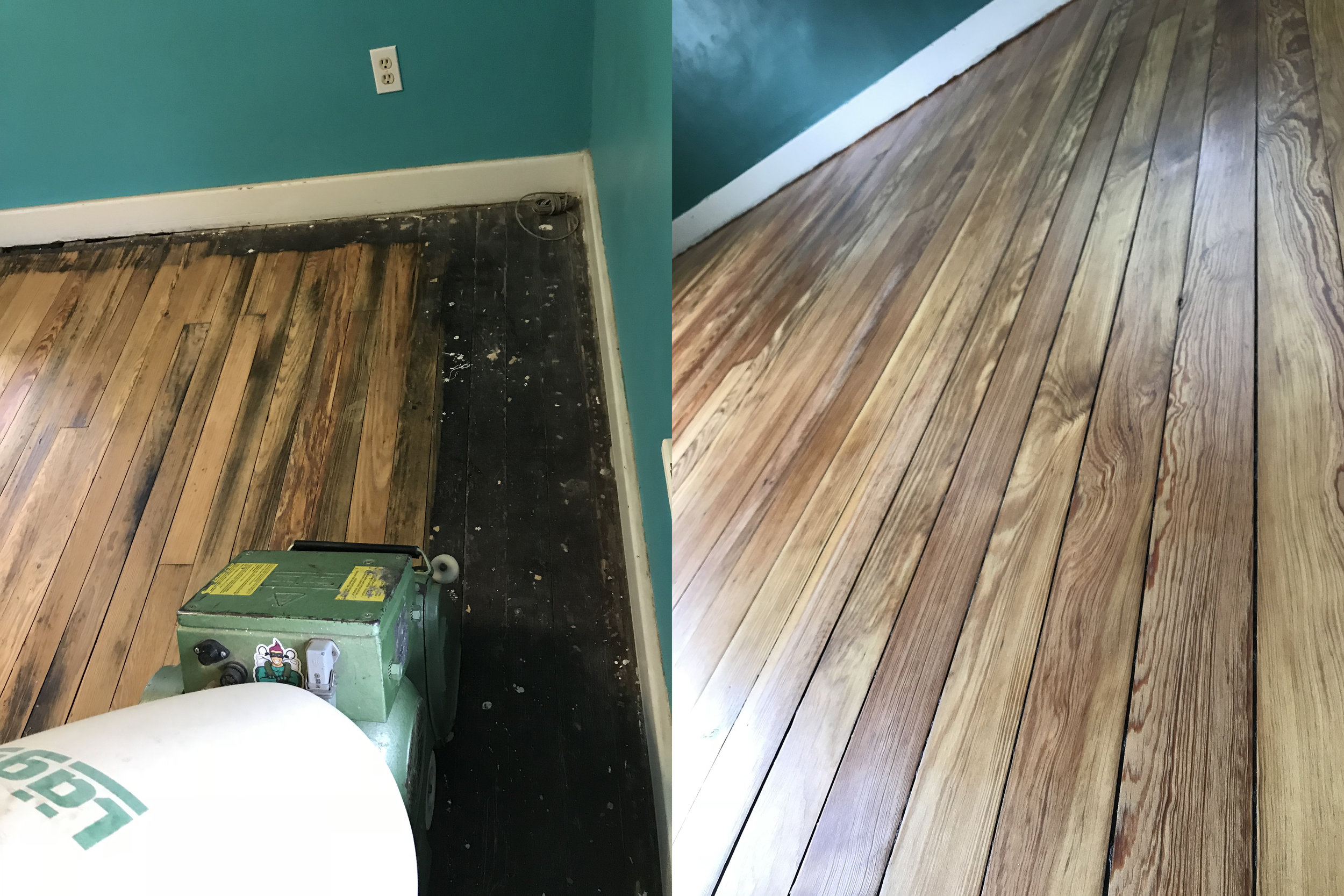 Pine Wood Floor Refinish