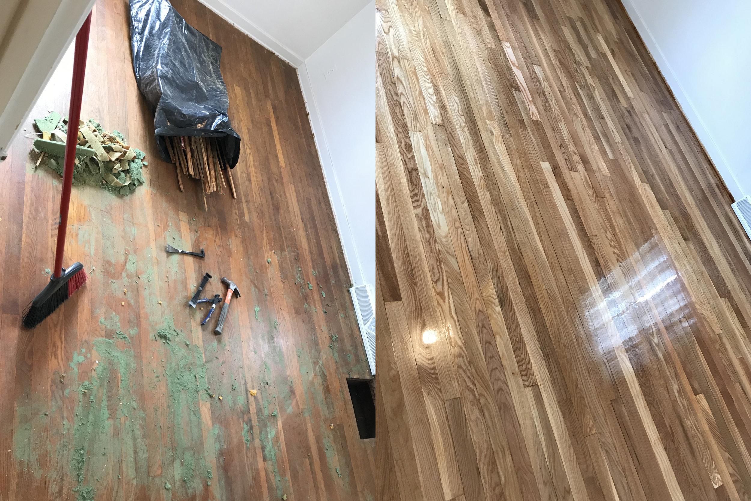 Oak Wood Floor Refinish