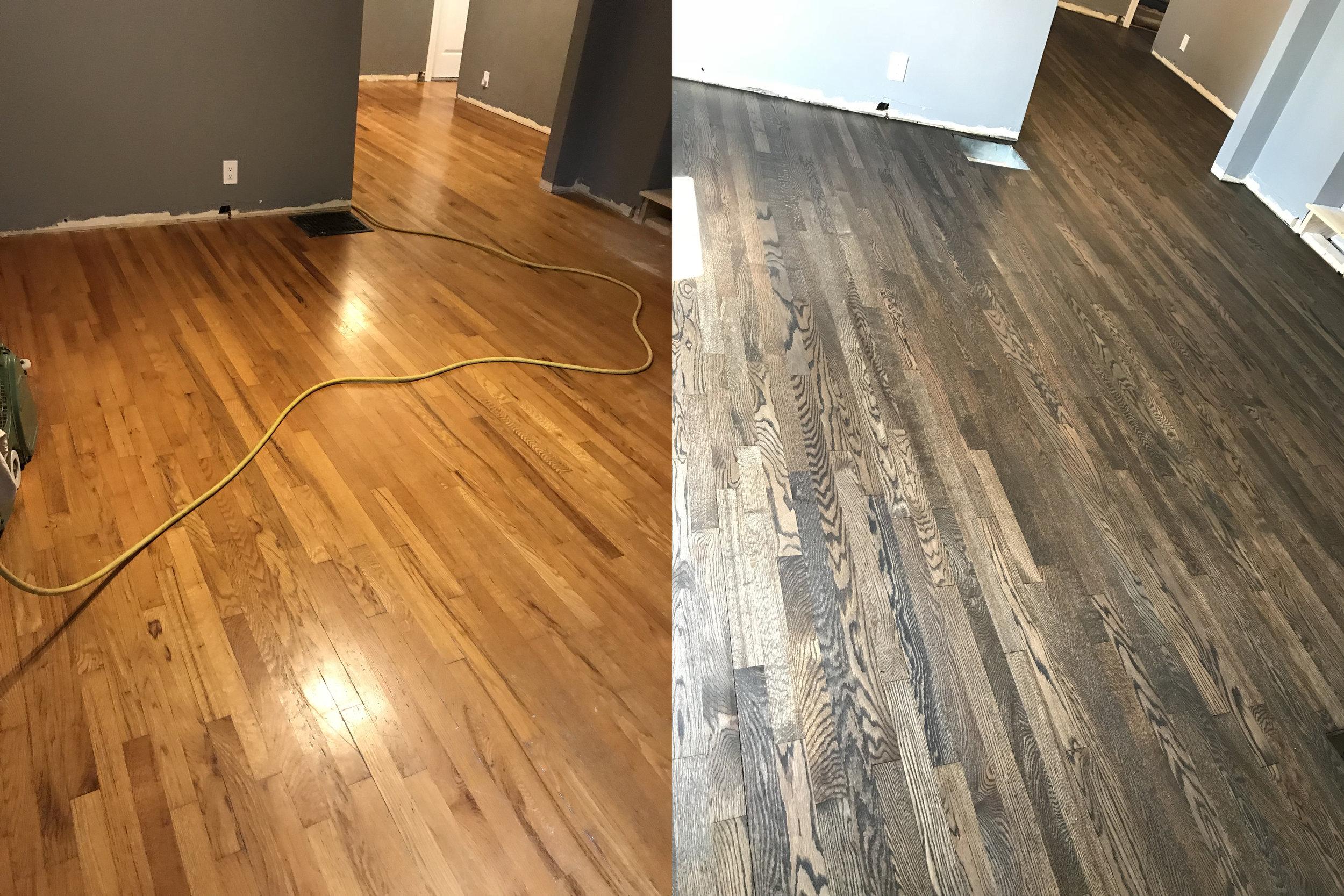 Red Oak Wood Floor Refinish