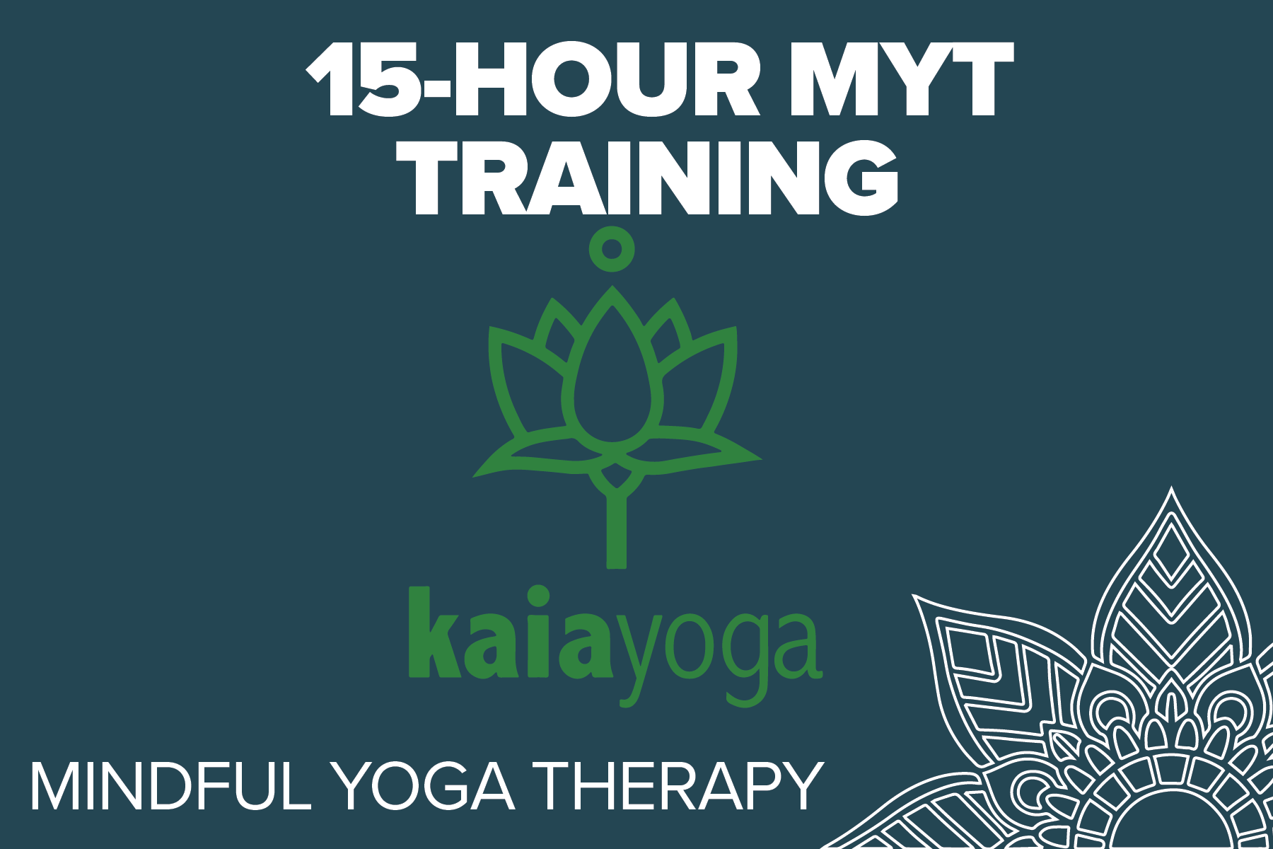 Kaia Yoga - Mindful Yoga Therapy is an empirically informed, clinically tested program comprised of five practices: Pranayama (breathing), Asana (postures connected with breath), Yoga Nidra, Meditation, and Gratitude. REGISTRATION COMING SOON!