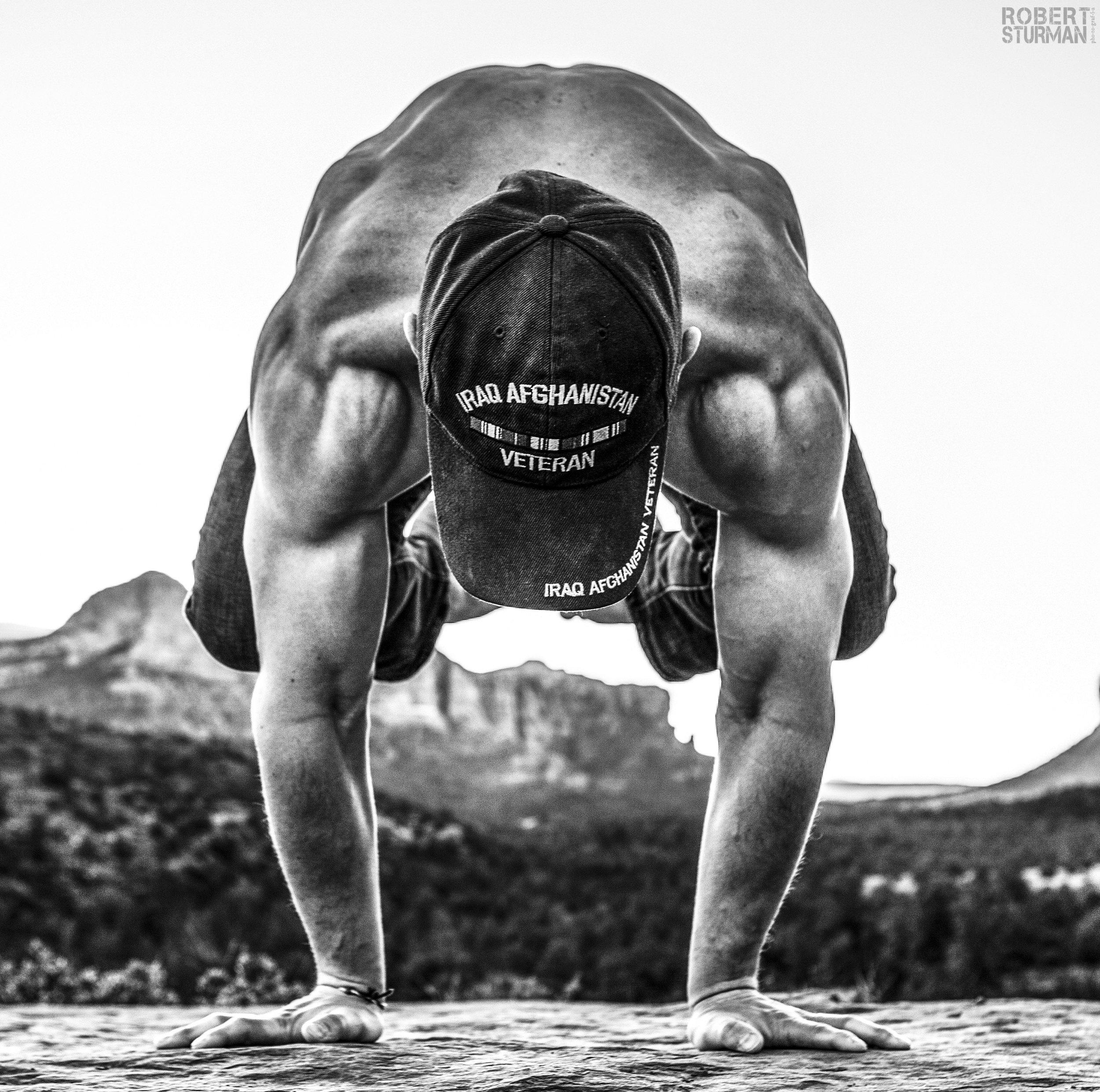 PHOTO:  Robert Sturman  | Veteran:  LUKE ANDERSEN  and  The   Give Back Yoga Foundation .