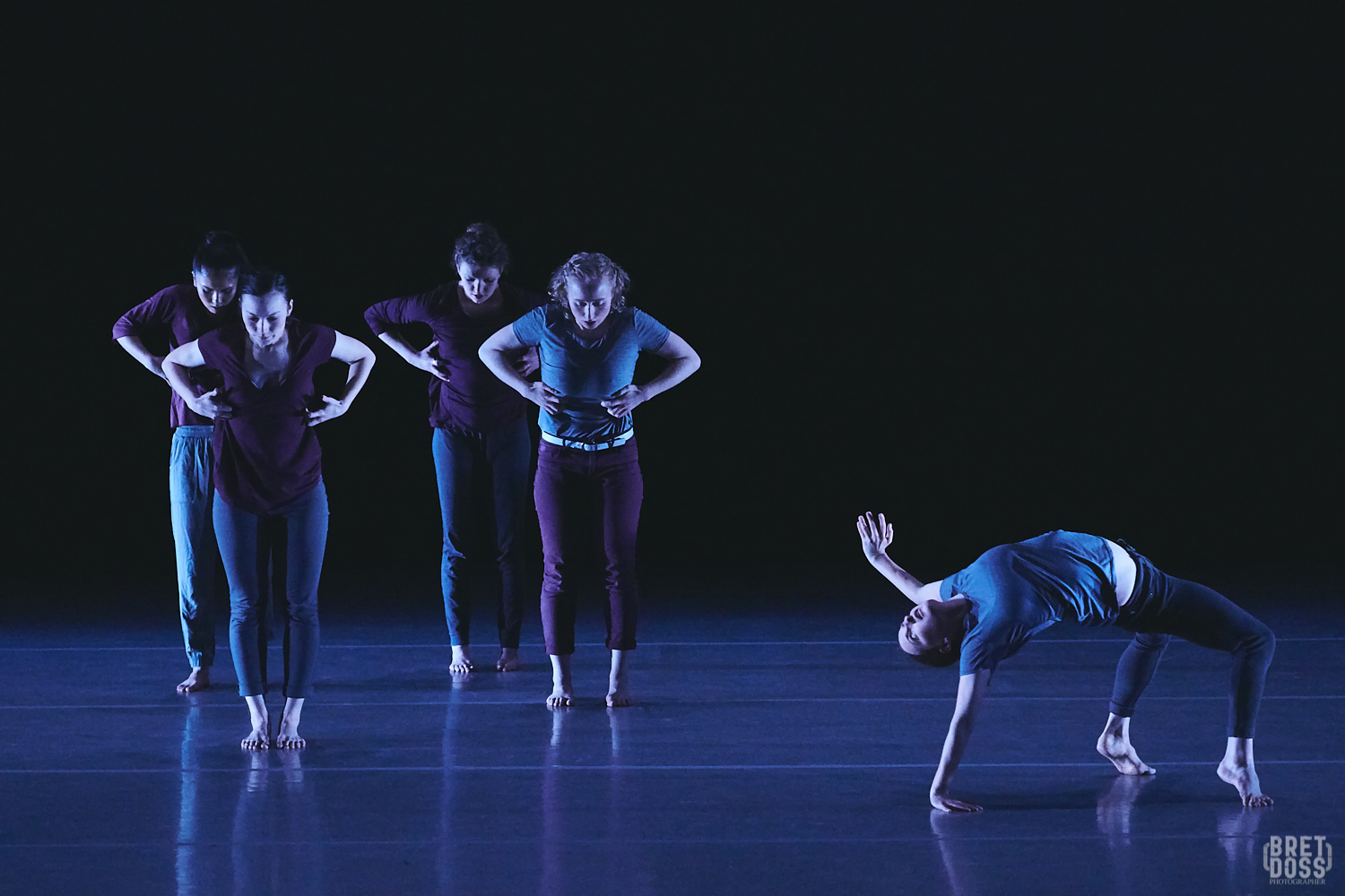 The Stone Dance Collective in Eva Stone's  A Series of Lies That Tell the Truth . Photo by Bret Doss.
