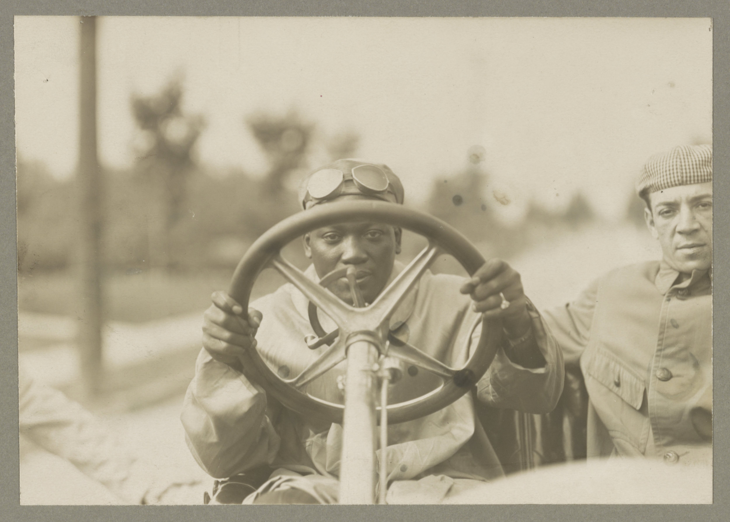 Johnson in his racer. Courtesy of Library of Congress.