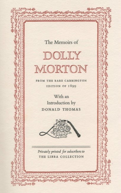 THE MEMOIRS OF DOLLY MORTON - Text by Dolly MortonIllustrations by Imre Hofbauer