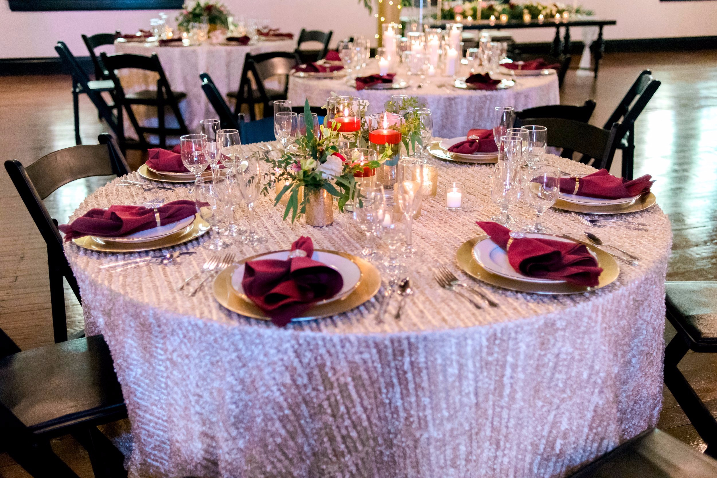 Guest table setup