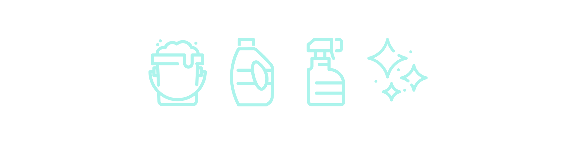 sparkly house cleaning supply icons