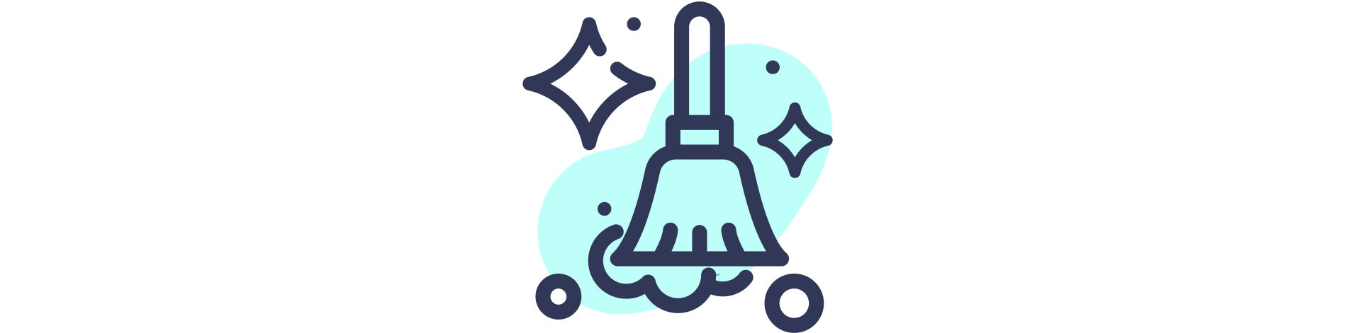 sparkly dust cleaning icon