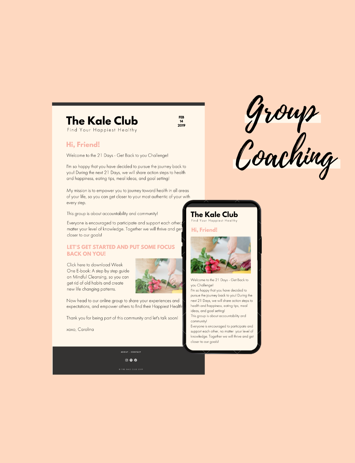 Group Challenge Health Coaching Group the kale club