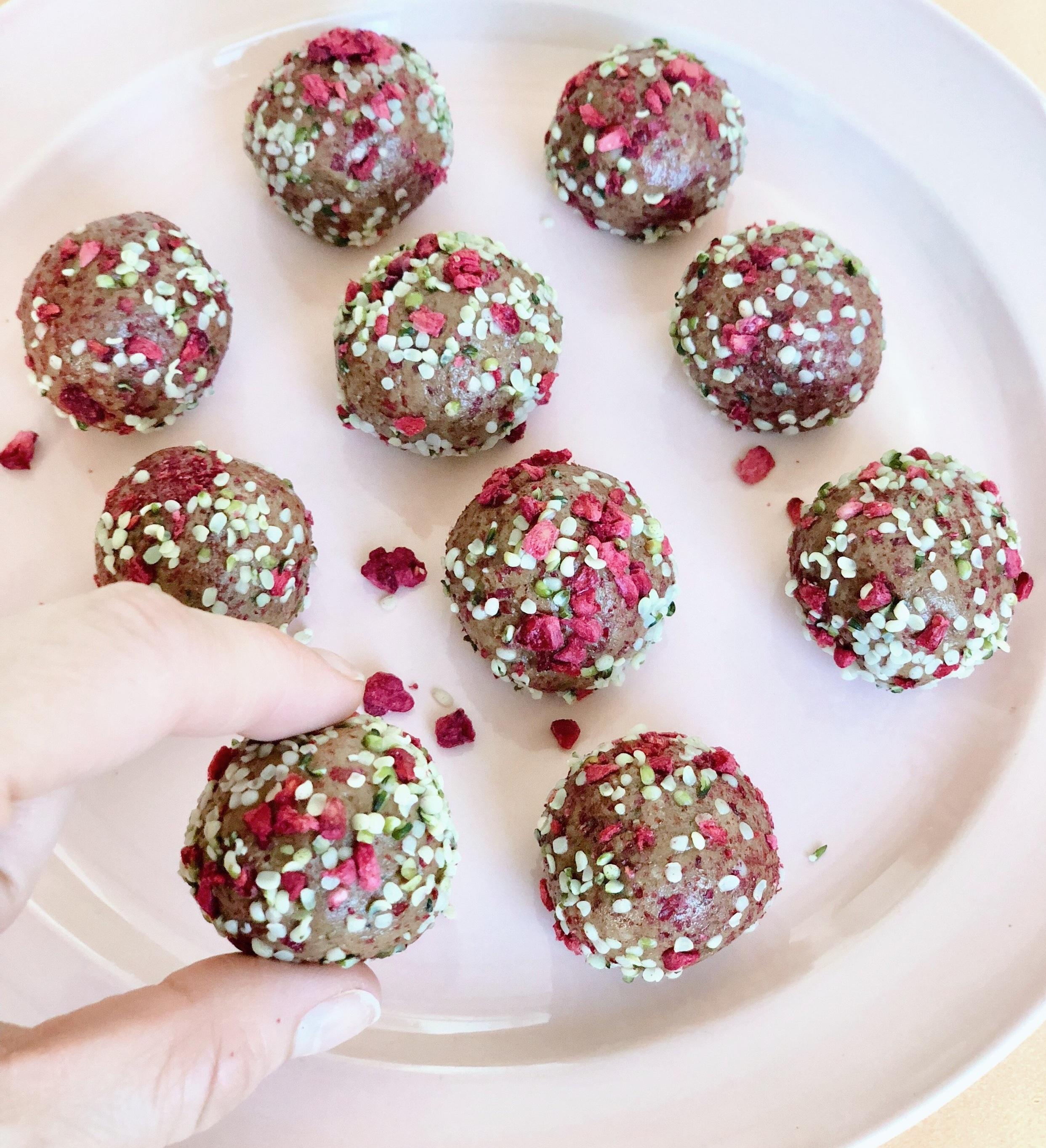 Sunbutter+protein+balls