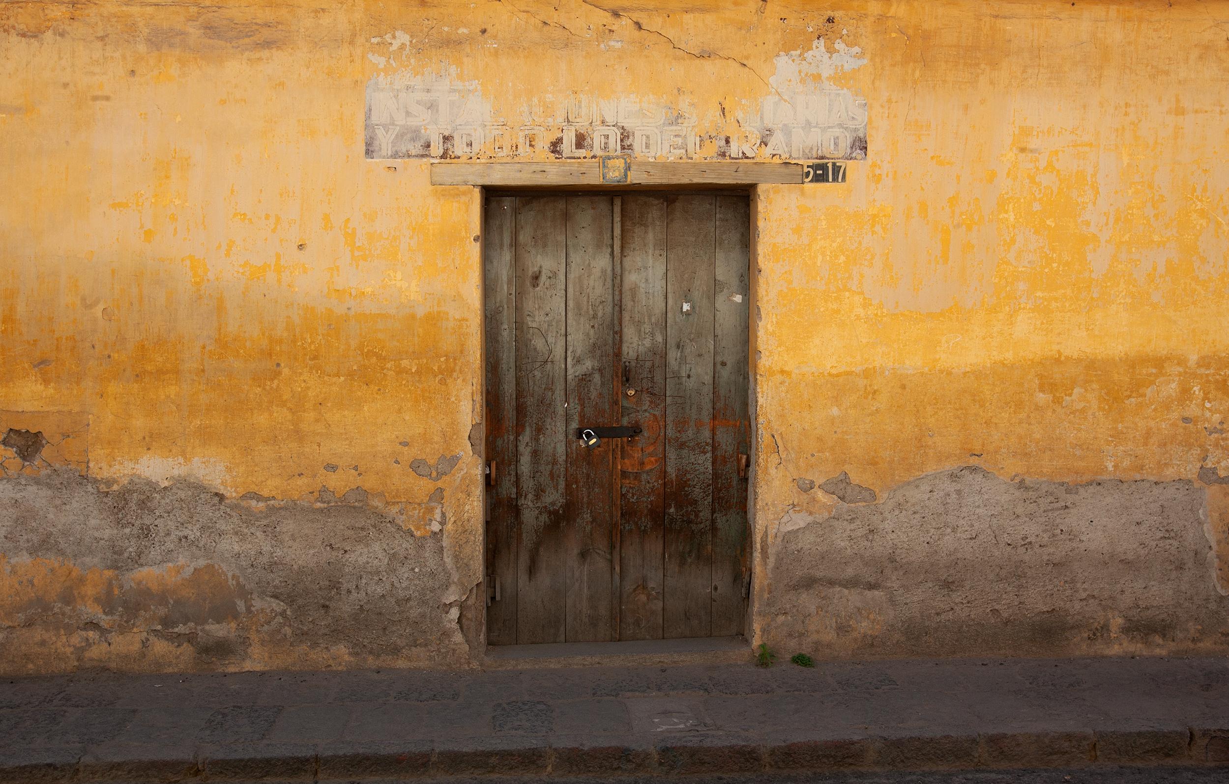 Door through Mustard