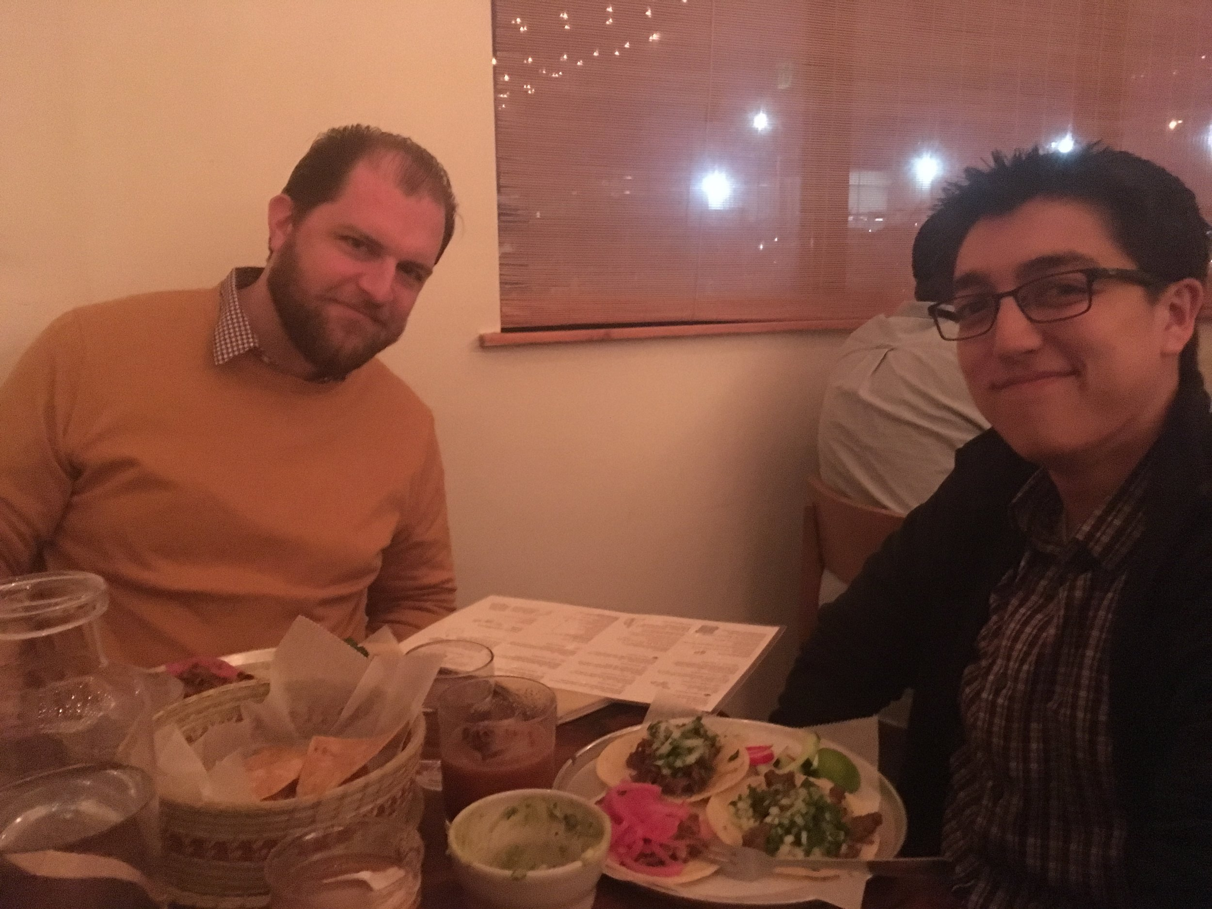 conductors jordan smith and ryan tani and tacos that are a lot better than the ones i just ate
