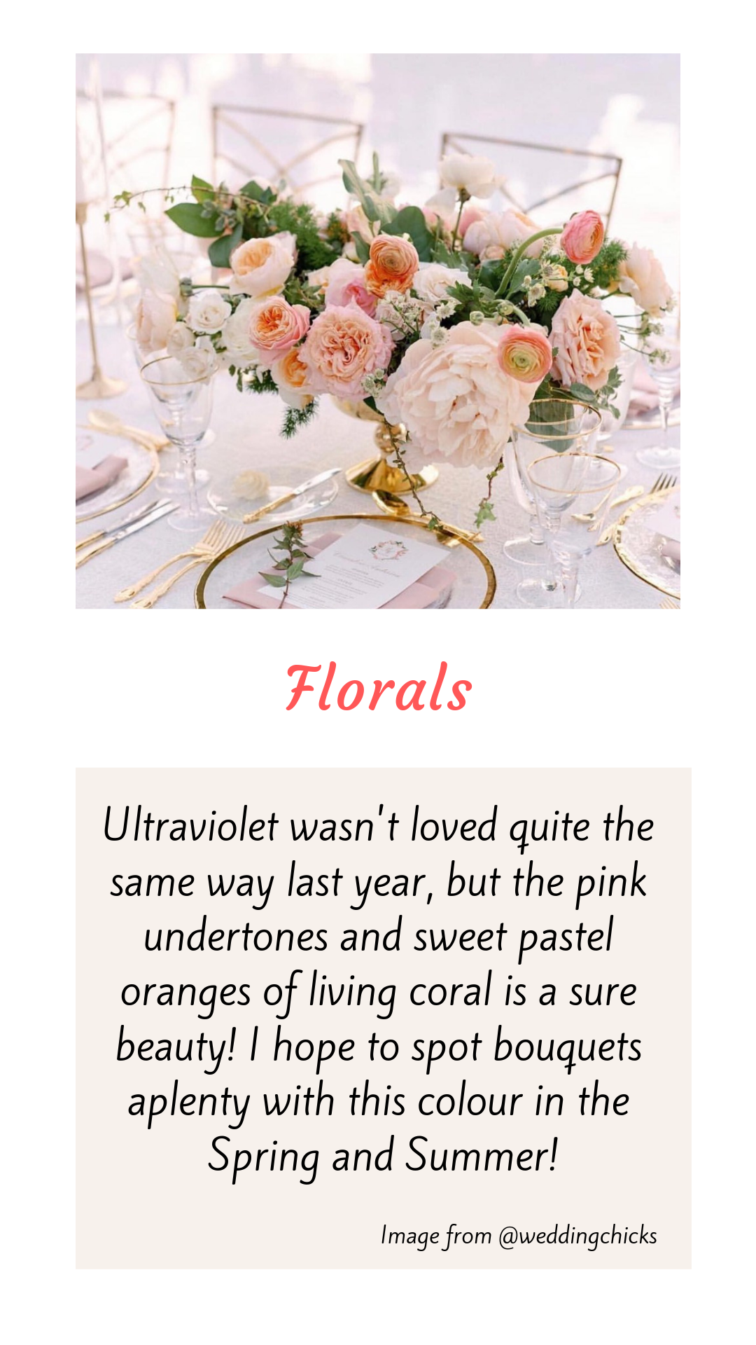 Wedding Floral Trends 2019