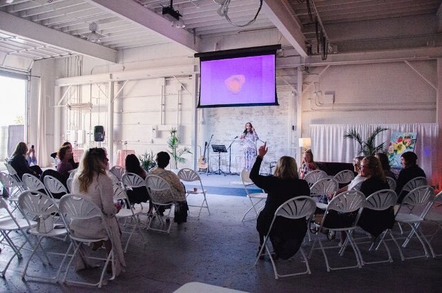 Event Creation - Grand openings, new product launch, local community event, fundraiser, or a pop up shop, we can help you create and coordinate an experience true to your brand and target market. Allow us to manage the details behind the scenes so you can be positioned at the forefront of the company.Photo: Season of Hope Fundraiser in support of YWCA Edmonton with Sonja Deklerk, More Than Gold taken by Galeevant Social Studio at the Creative Hive.