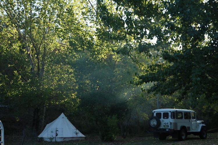 Tent and Car