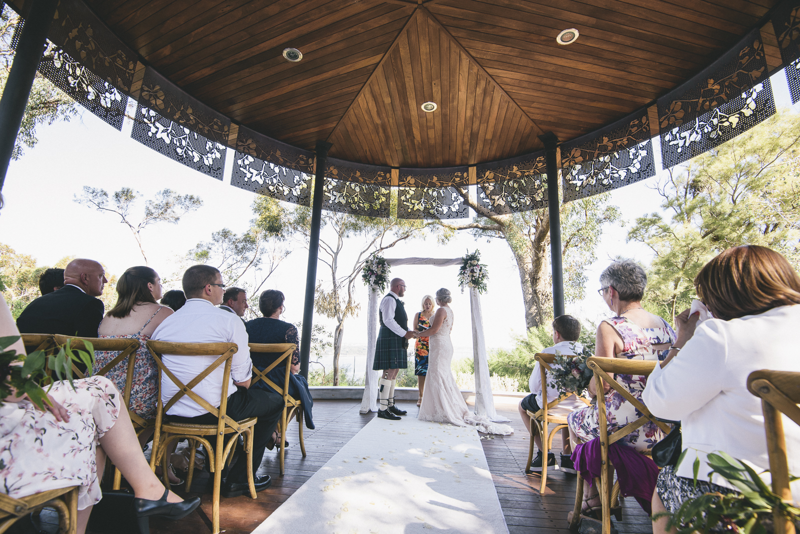 Kings Park Marlee Pavillion Wedding Ceremony
