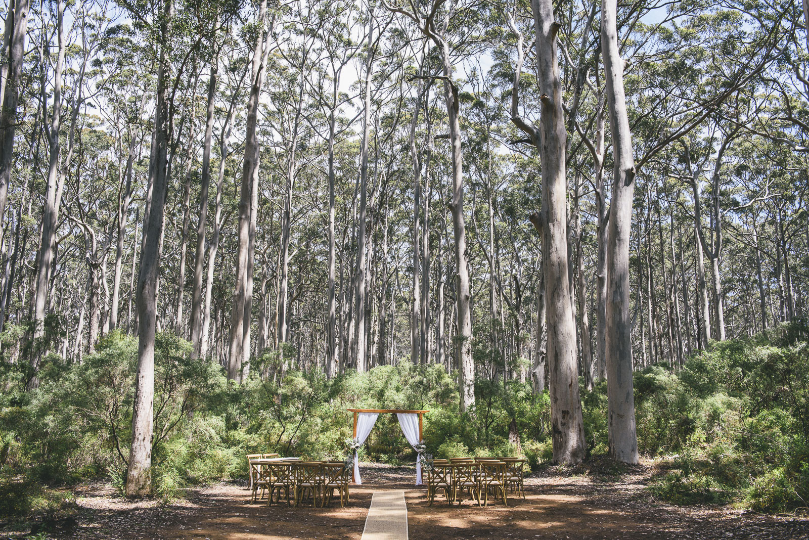 Margaret River Wedding Ceremony Pop Up Wedding