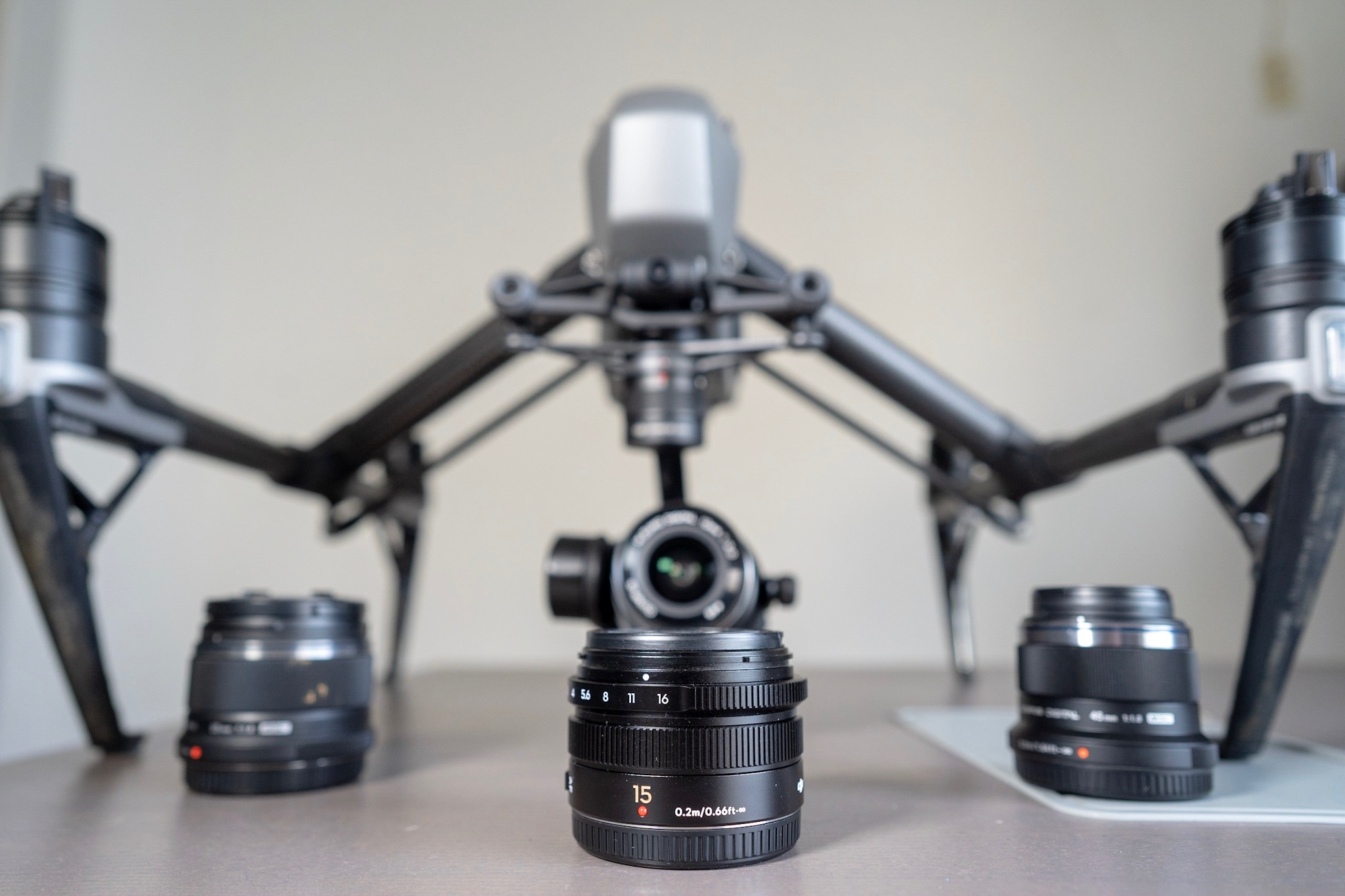 Inspire 2 with Apple ProRes license, 12mm, 15mm, 25mm, 45mm lenses